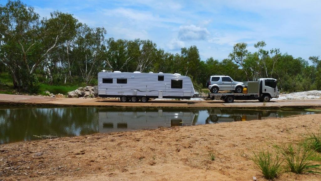 Roma caravan travelling Australia.