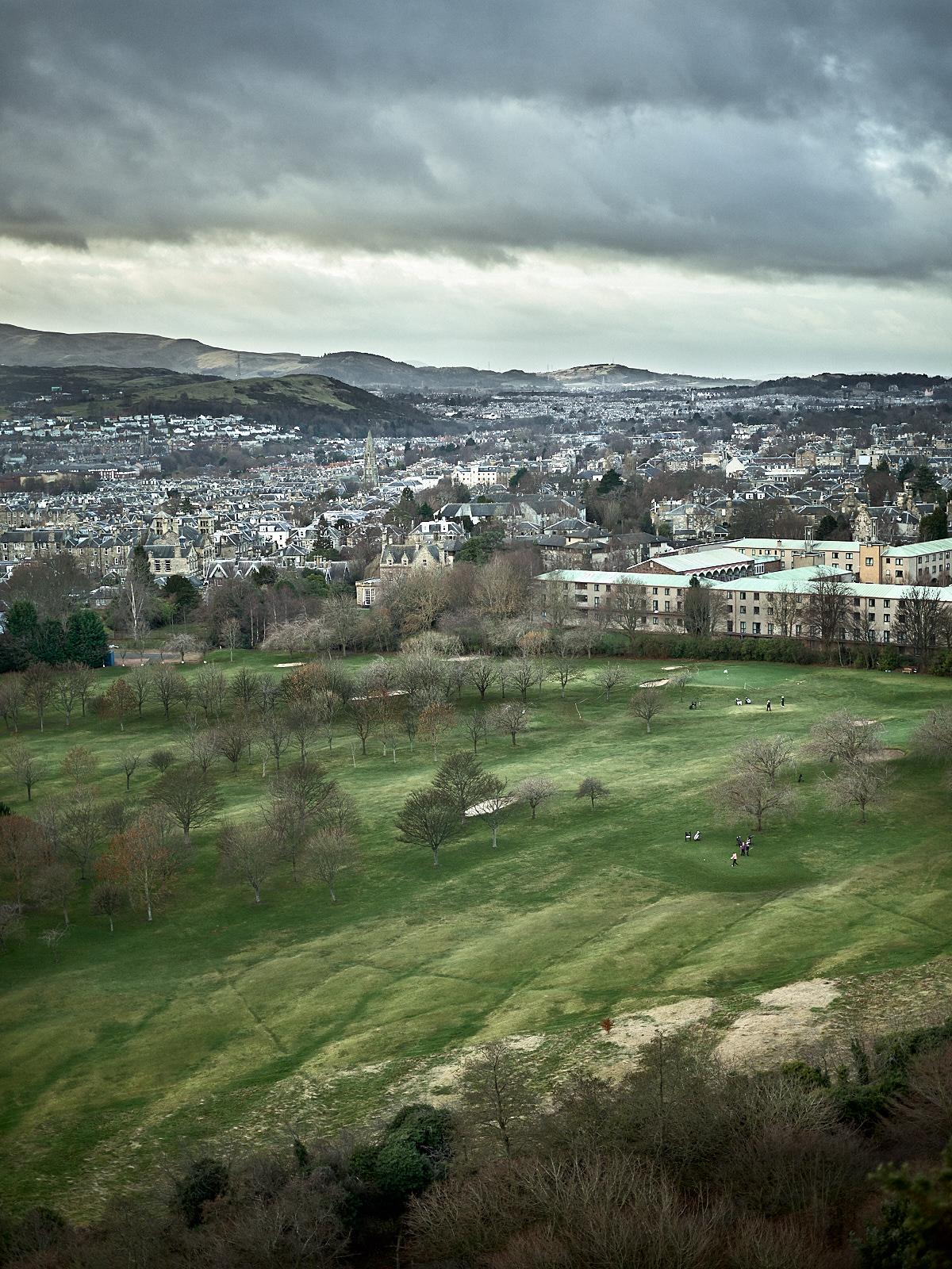 Golfing in Edinburgh
