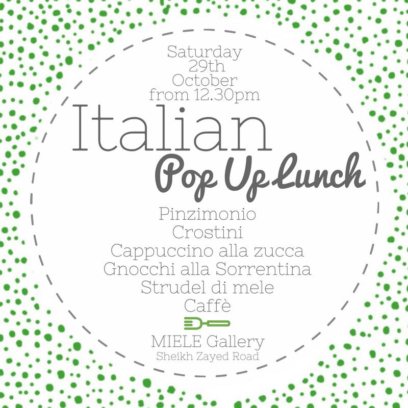 Italian Pop Up Lunch