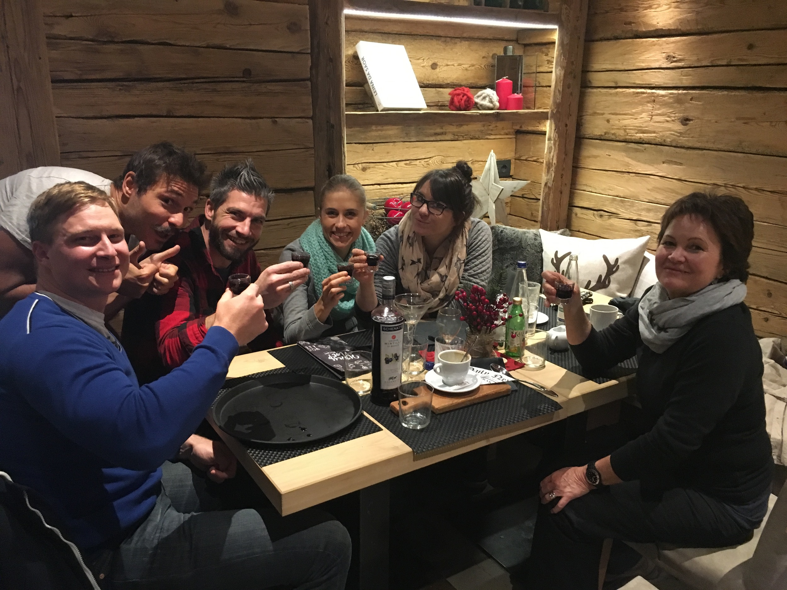 "Having some ""Livigno milk"" with our new friends,Alex and Fabrizio."