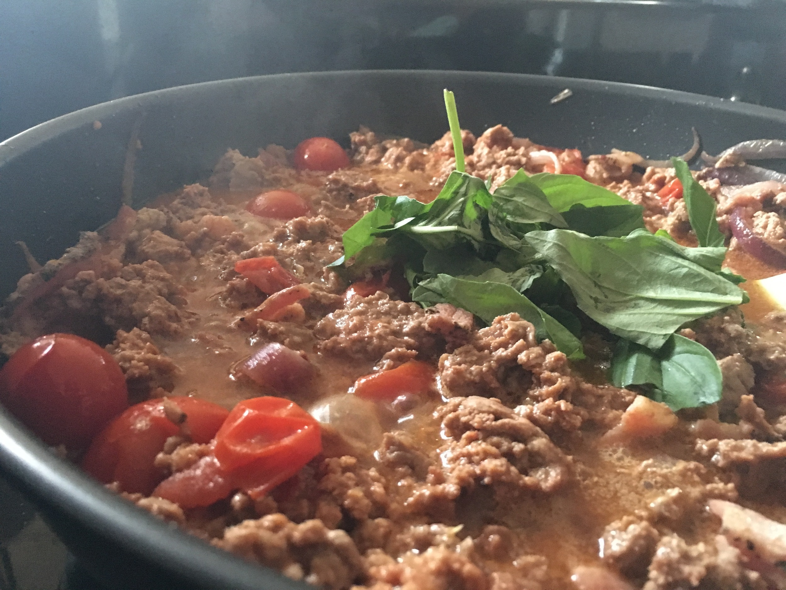 Lamb mince for the Zucchetti Bolognese.