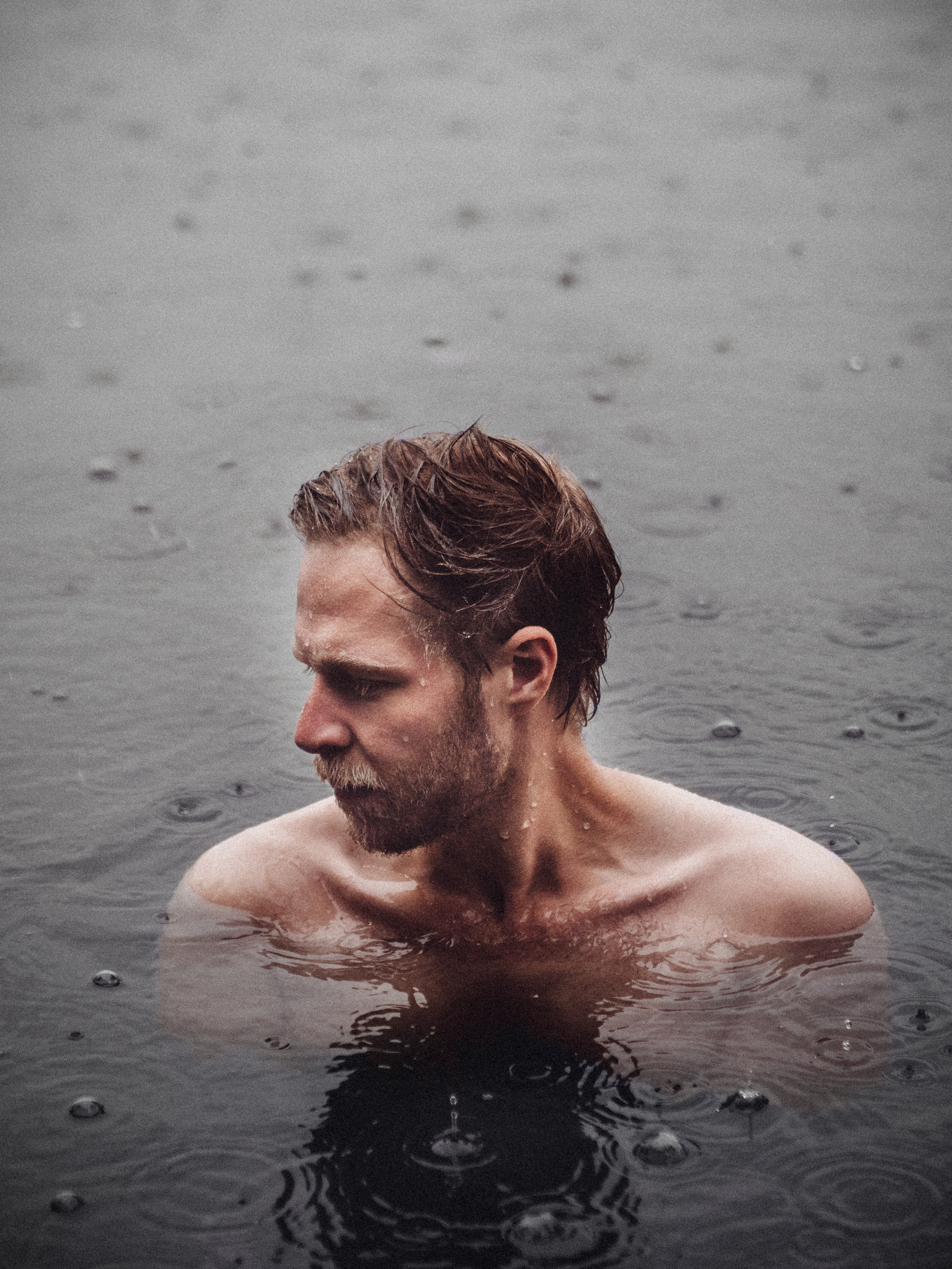 nothing better than a rainy swim in summer -