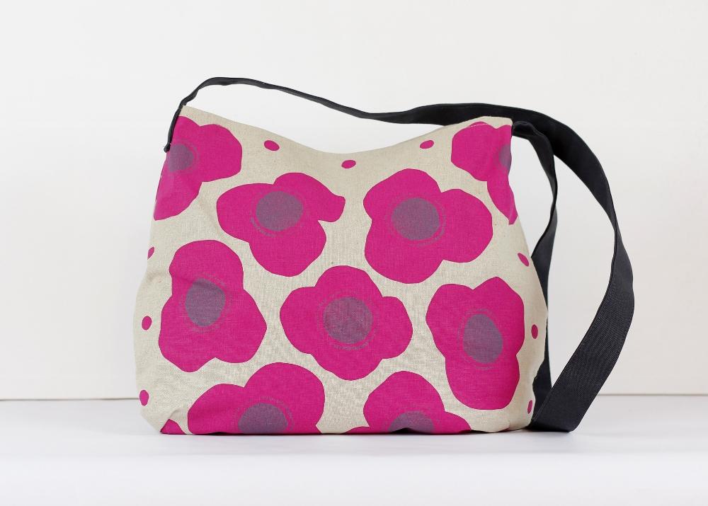 poppies messenger bag
