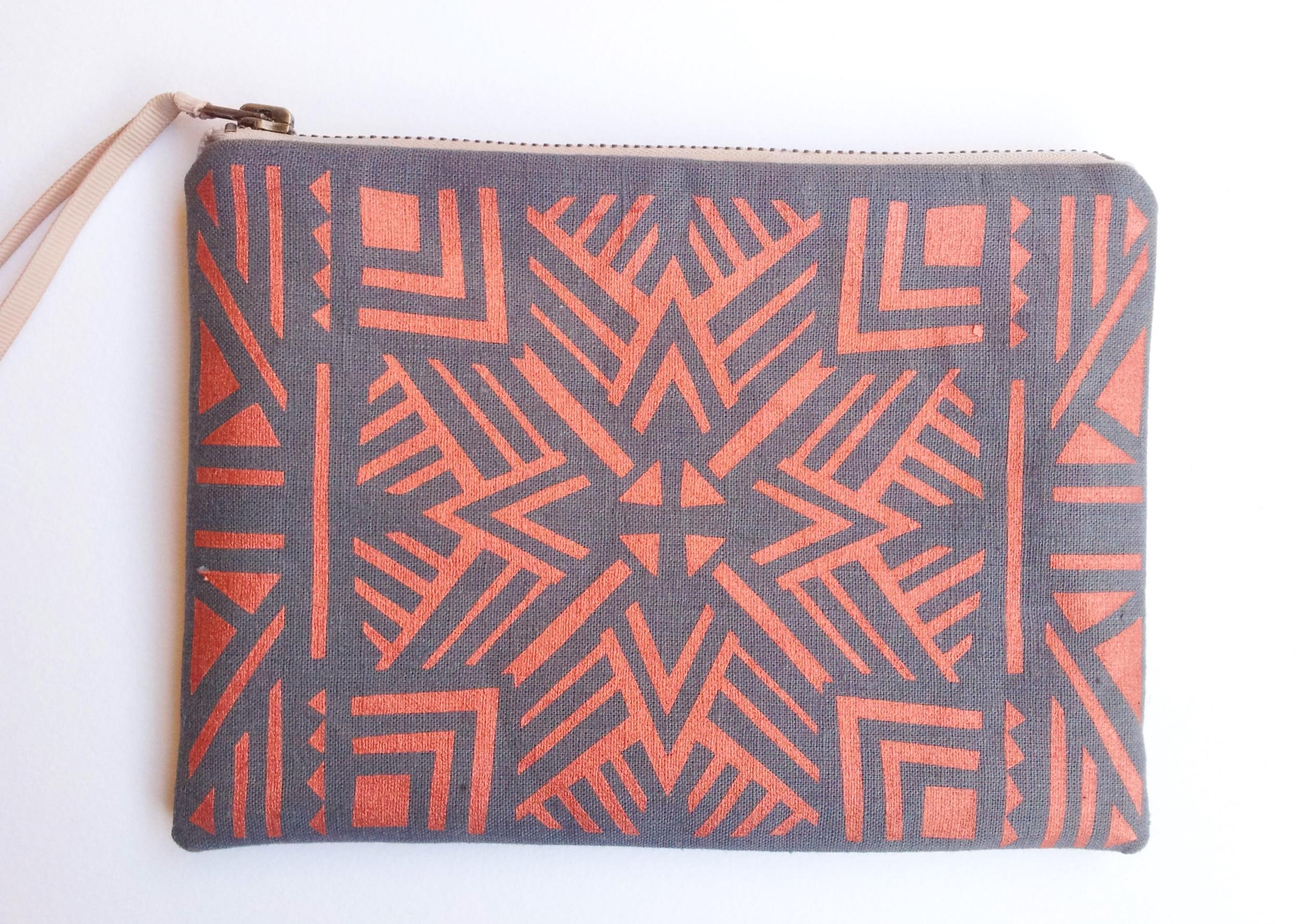 copper aztec pouch