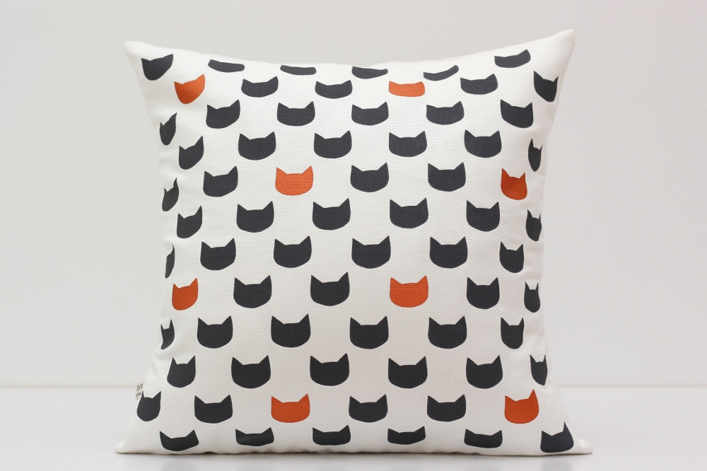 midnight cats cushion cover