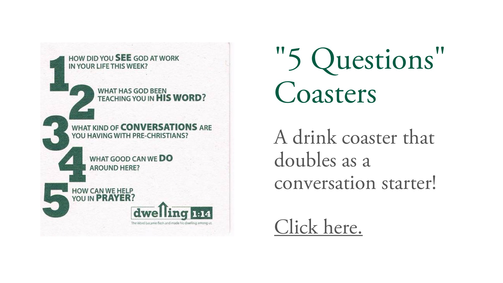"""5 Questions"" Coasters"