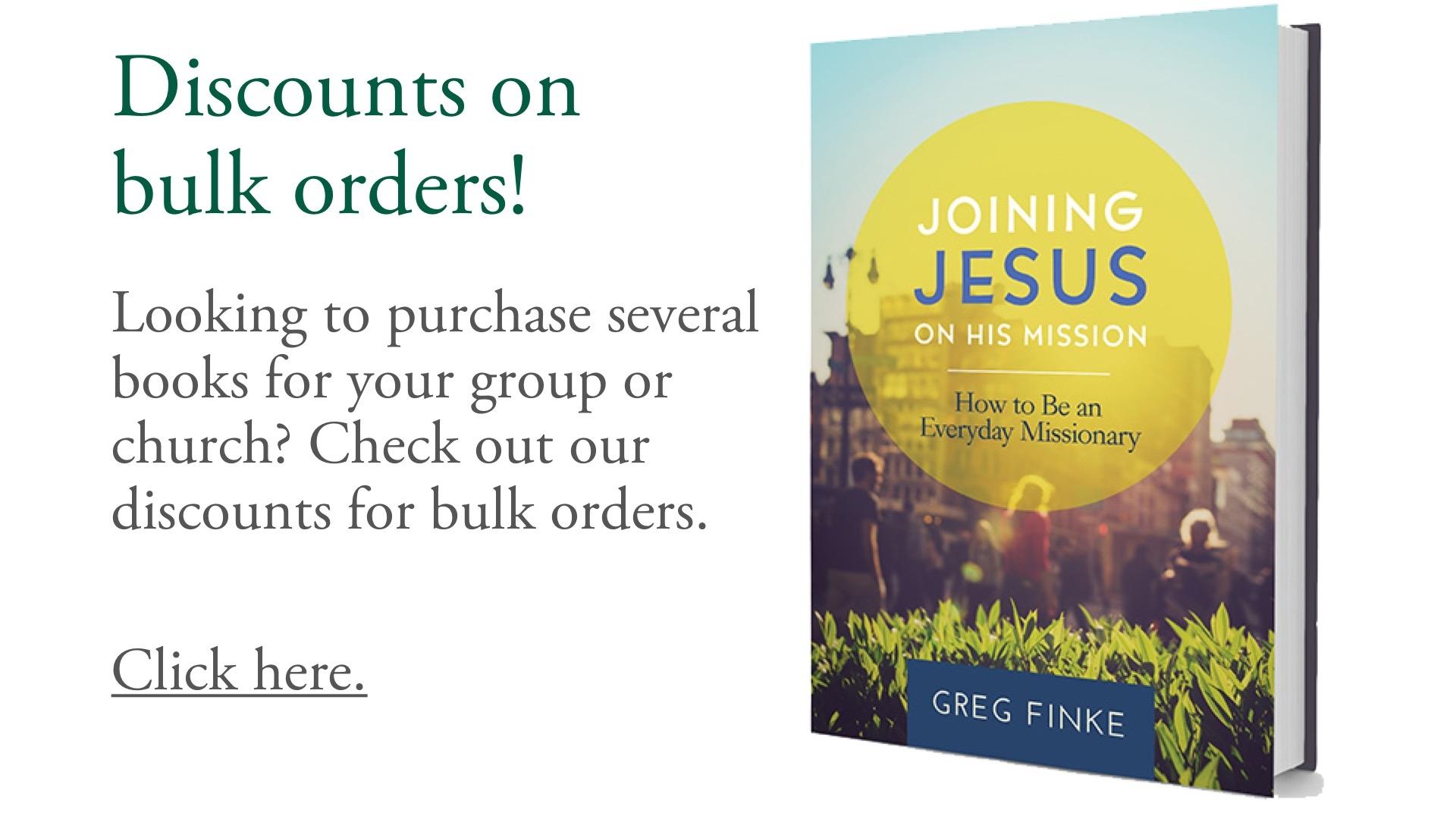 Discounts on bulk orders!