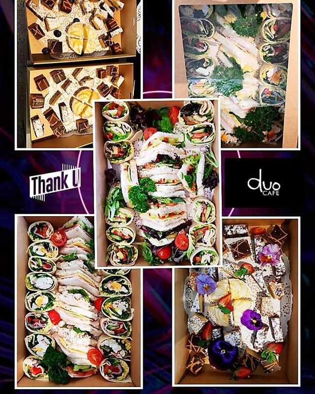 Here are some lovely catering orders from our regular customers and new customers last few weeks and more new orders in the coming weeks 🌯🥪🍰🥤☕ We take this opportunity to sincerely thank you for your continued support of Duo Cafe and we are very appreciated of all our customers who have supported the growth of our cafe.😊😊🙏🙏 We welcome orders or inquiry by 📧hello@duocafe.com.au or 📞0481 969 569. Mon to Fri 7am-2.30pm Sat 9am-1pm. 24 hours notice is appreciated.  Please notify us of any special requirement eg vegetarian or gluten free so we can try our best to prepare accordingly