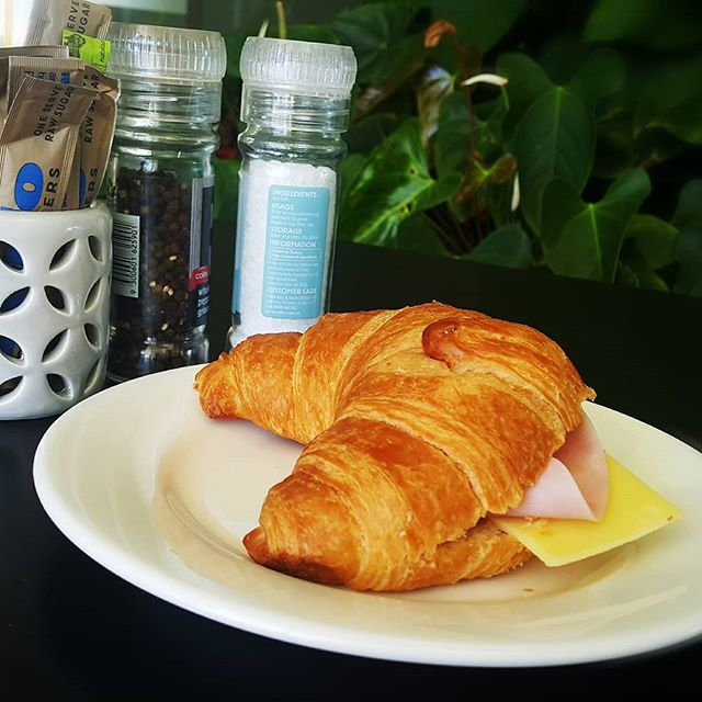 HAM AND CHEESE CROISSANTS ARE BACK!! AVAILABLE ALL DAY. ONLY AT A SMALL PRICE OF $5.90!! See you around :D
