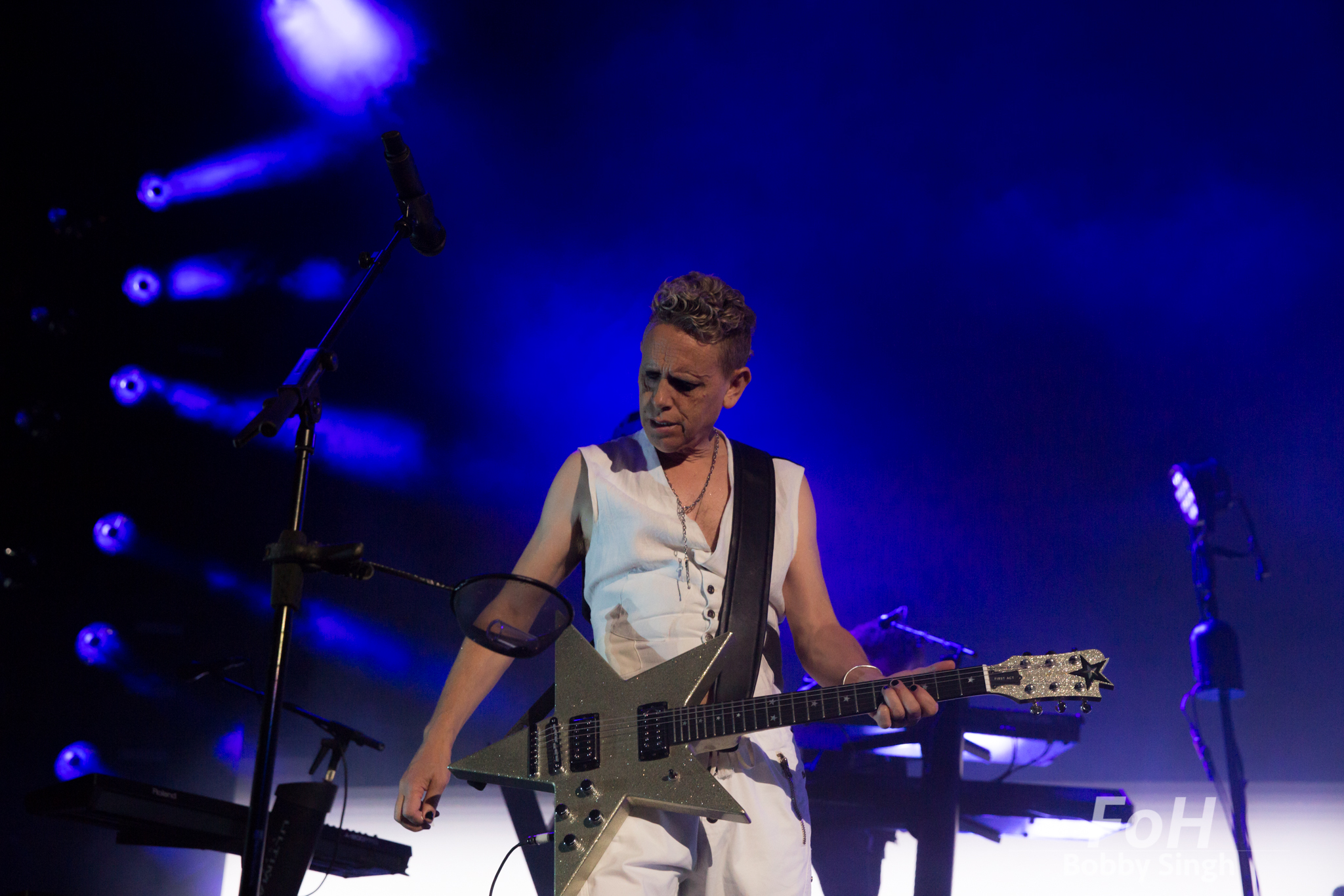"""Toronto, Canada. 11th June 2018. Martin Gore of  DEPECHE MODE performing at the Air Canada Centre on the """"Global Spirit Tour"""" in Toronto, CANADA."""