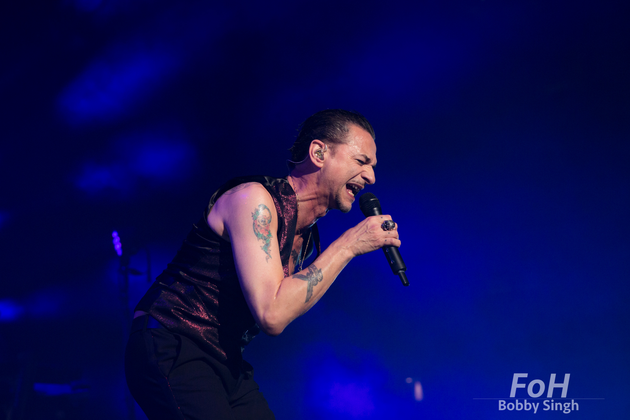 """Toronto, Canada. 11th June 2018. Dave Gahan of  DEPECHE MODE performing at the Air Canada Centre on the """"Global Spirit Tour"""" in Toronto, CANADA."""