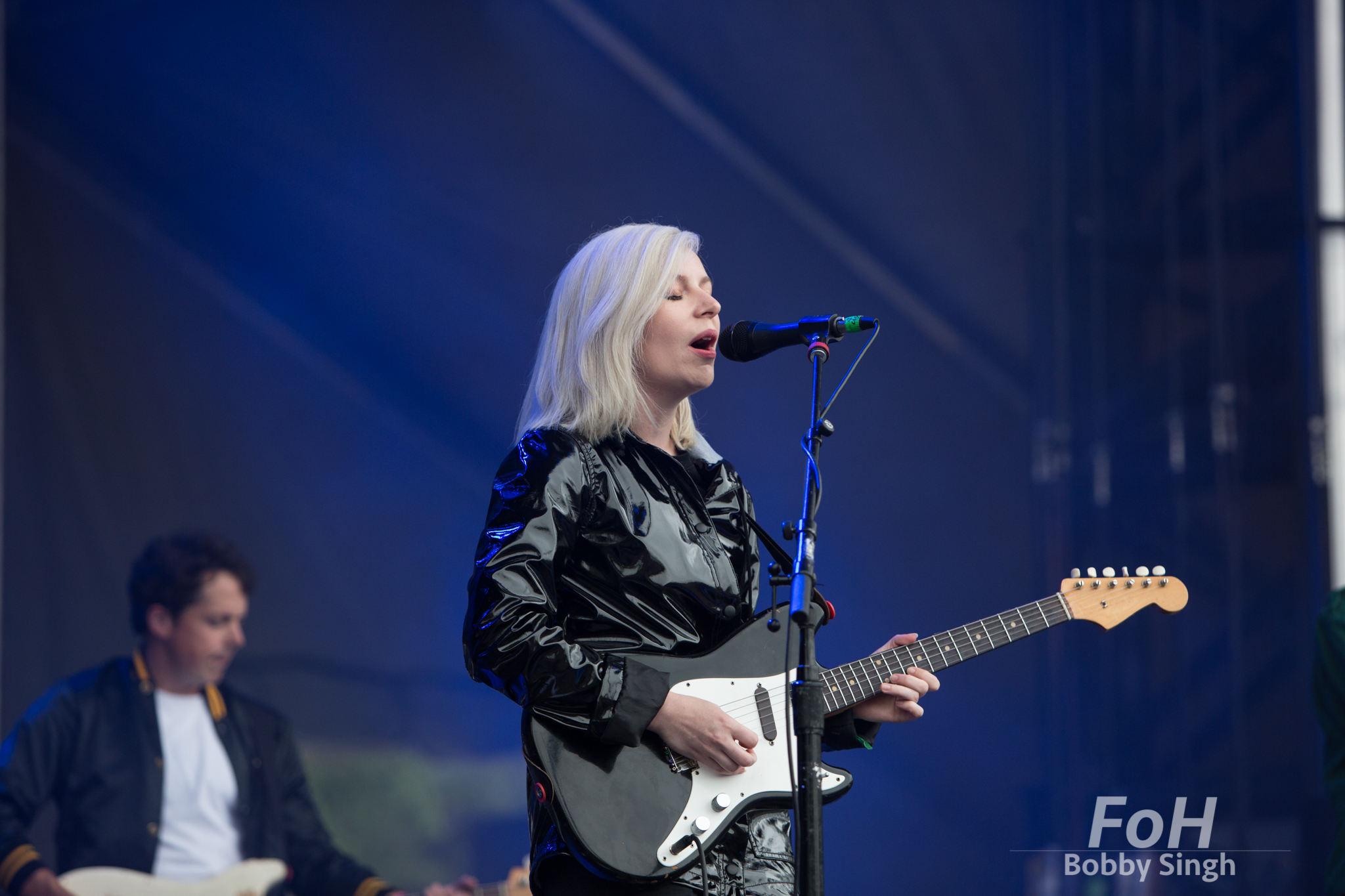 Toronto-based pop band Alvvays performing at the 2018 Field Trip Music & Arts Festival in Toronto