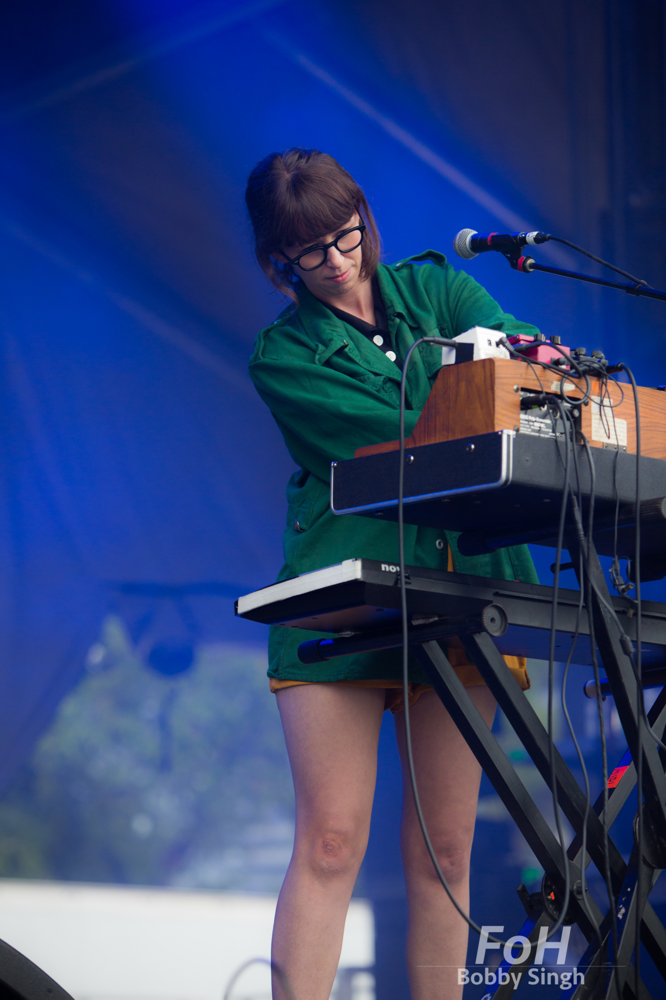Keyboardist Kerri MacLellan of pop band Alvvays performing at the 2018 Field Trip Music & Arts Festival in Toronto