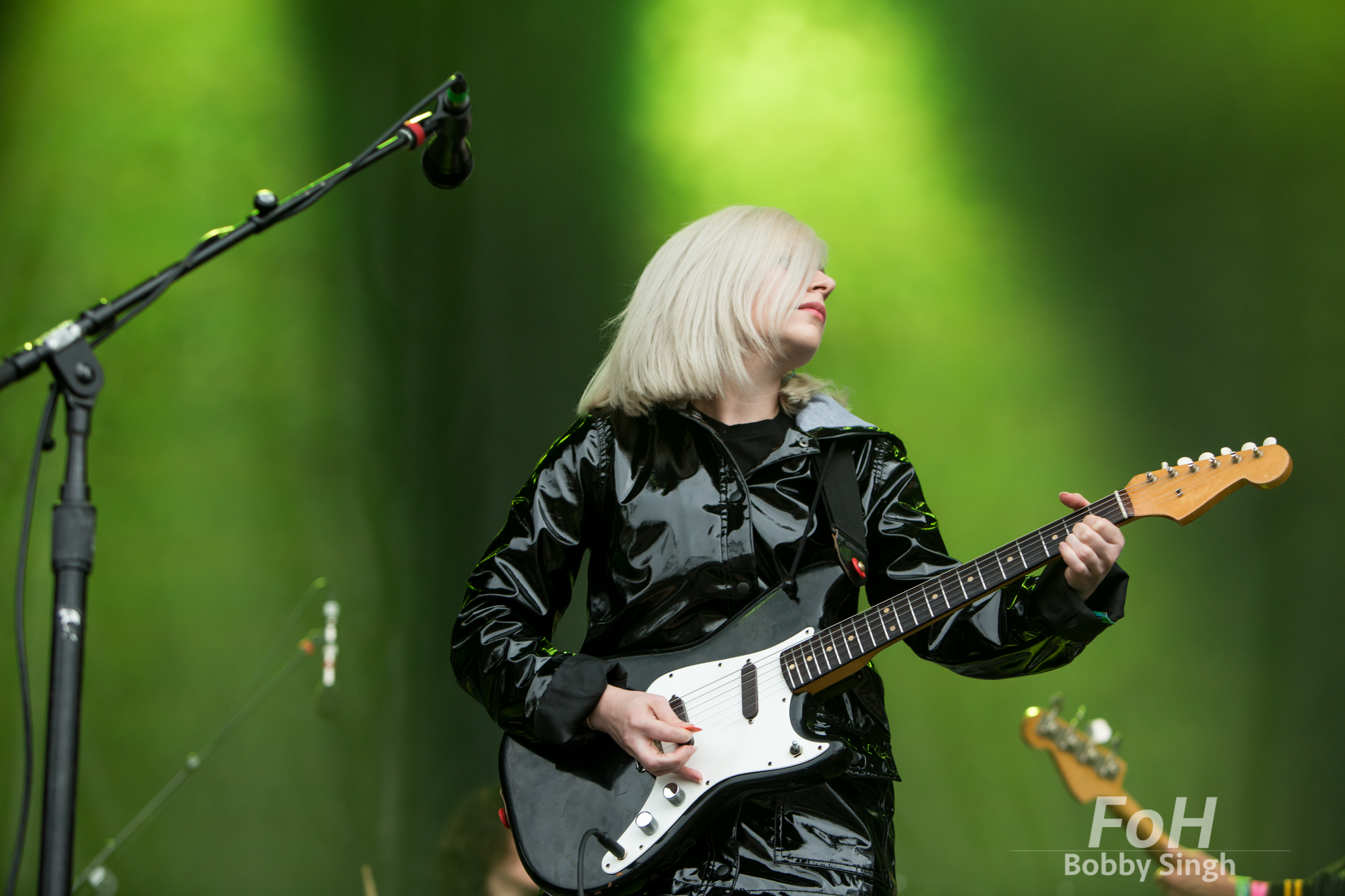 Alvvays lead singer Molly Rankin performing at the 2018 Field Trip Music & Arts Festival in Toronto
