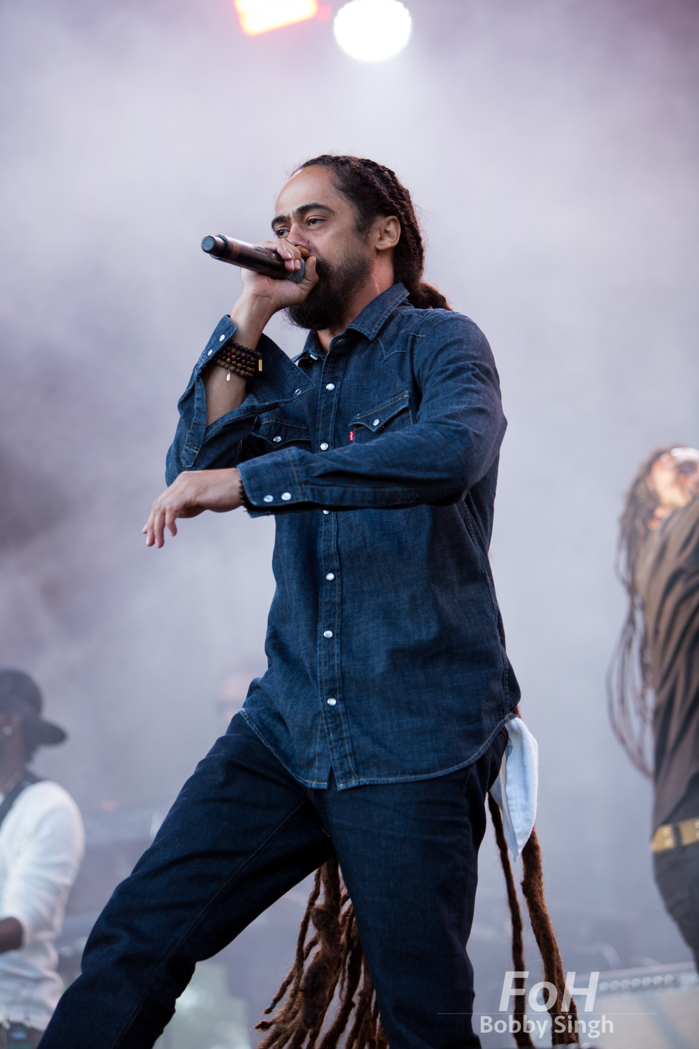 "Damian ""Junior Gong"" Marley performs in Toronto at the Field Trip Music & Arts Festival"