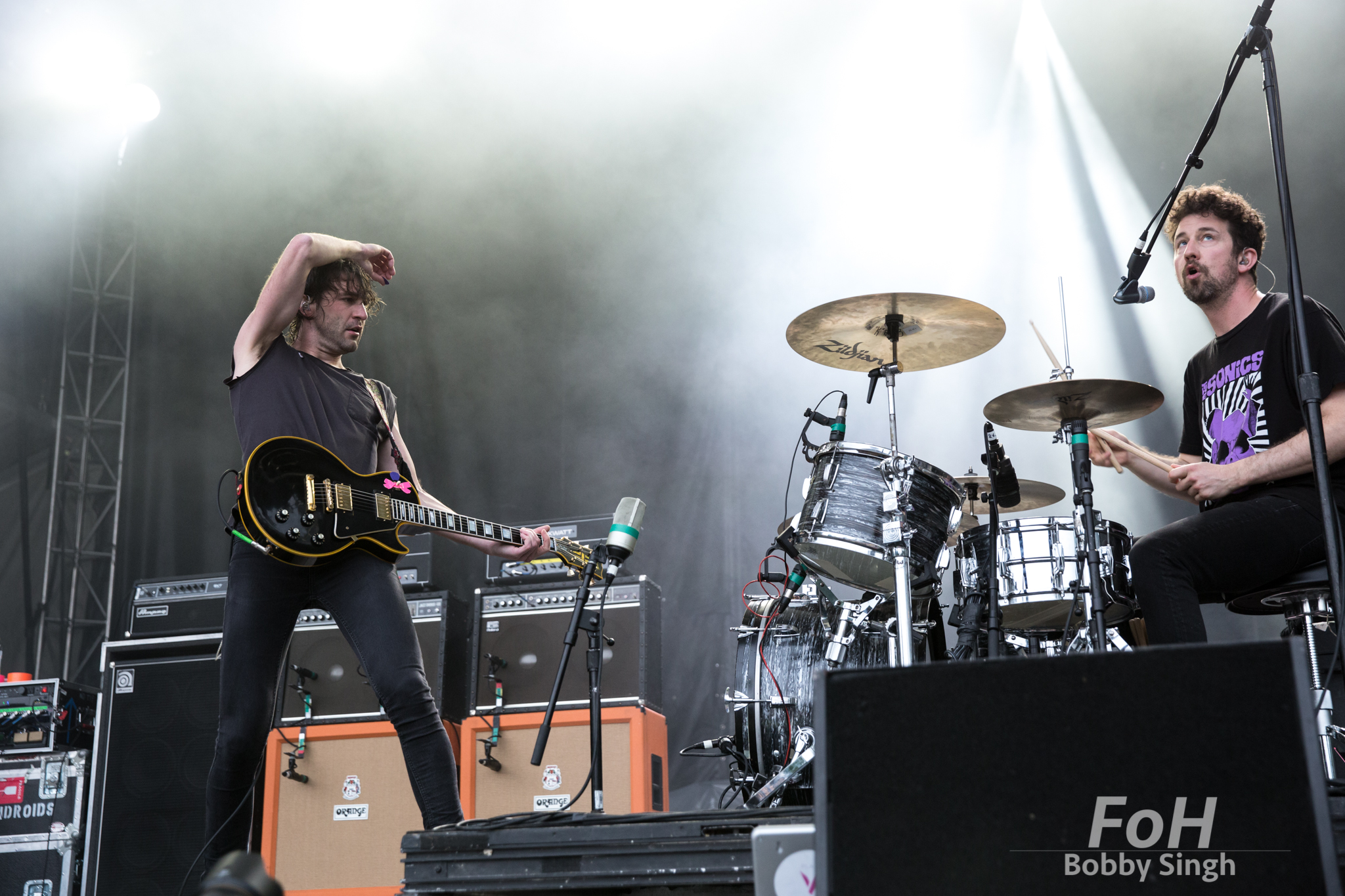 Japandroids perform at the 2018 Field Trip Music & Arts Festival in Toronto