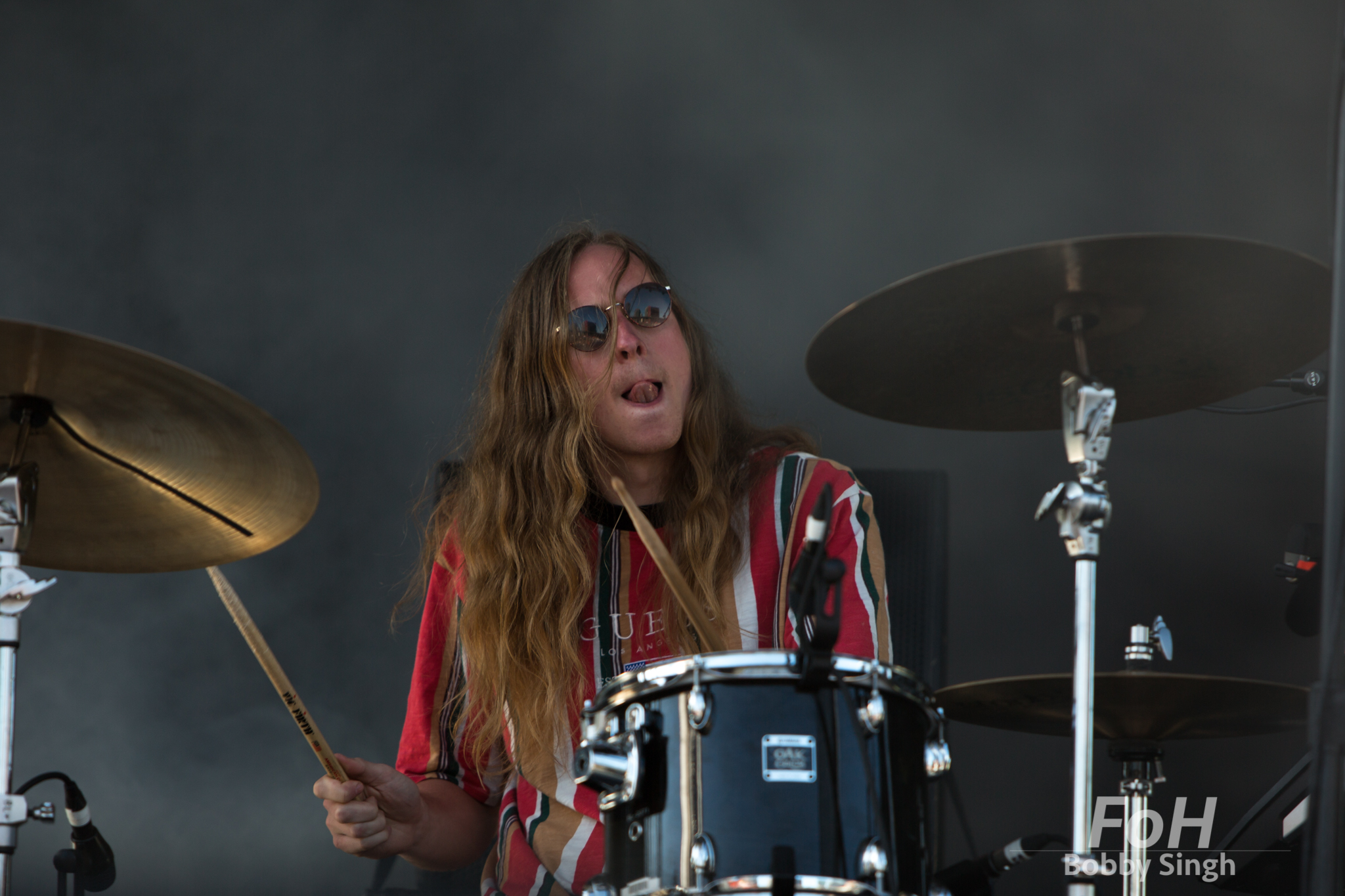 Harry Day of Middle Kids performing at the 2018 Field Trip Music & Arts Festival in Toronto.
