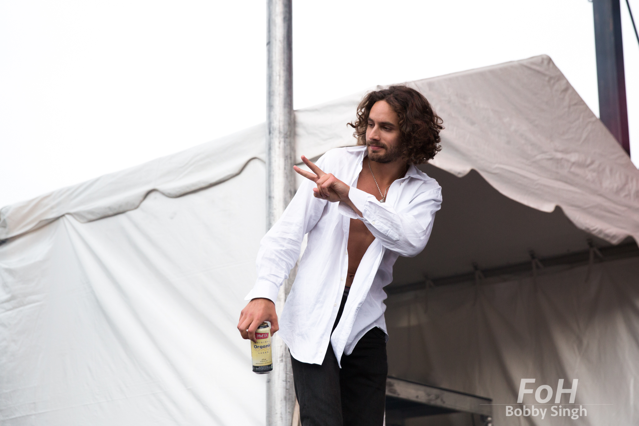 Toronto-based singer Allan Rayman performs on night two of Field Trip Music & Arts Festival in Toronto