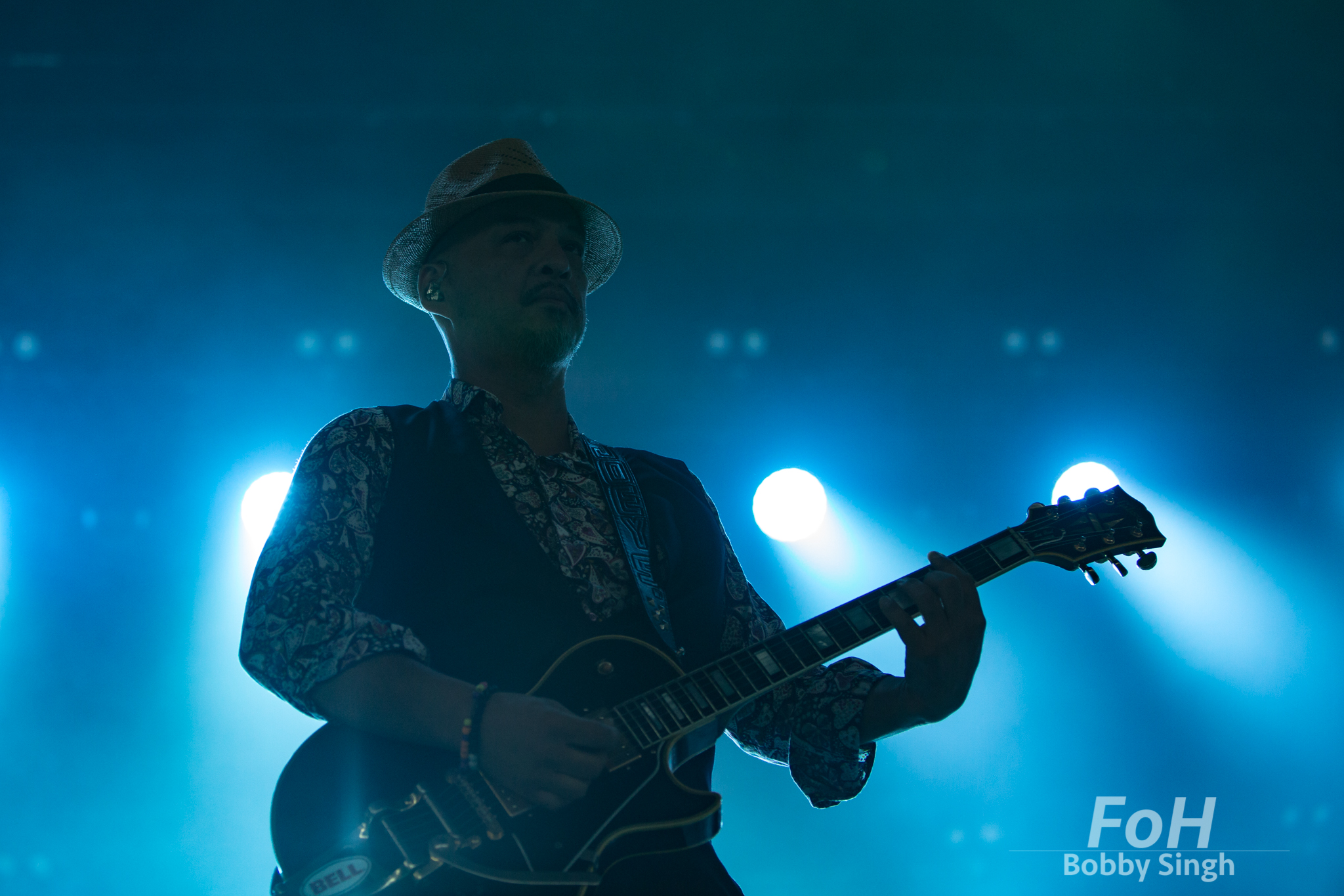 Joey Santiago of Pixies performing at Budweiser Stage in Toronto