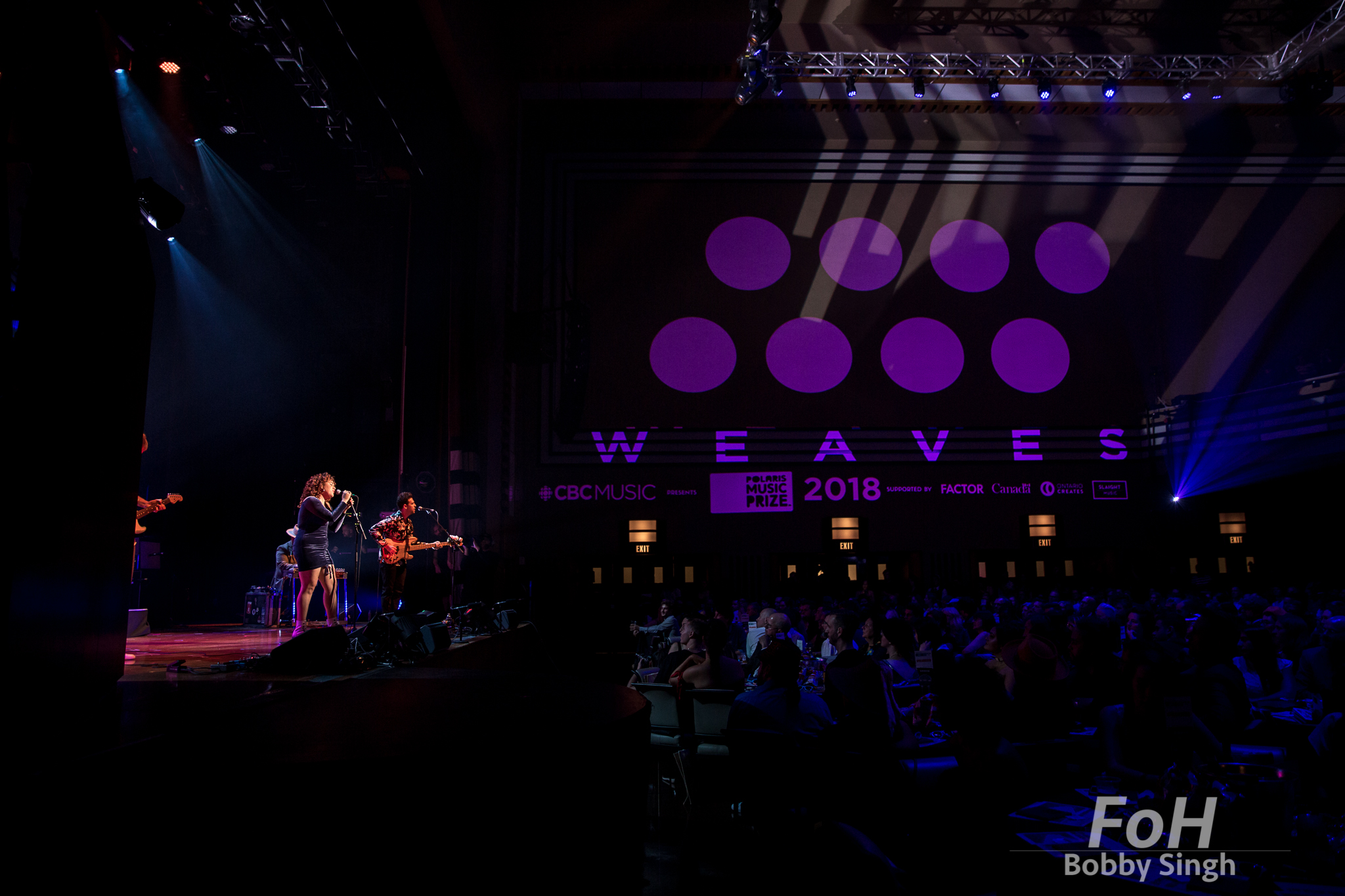 Toronto, CANADA. 17th September, 2018. Weaves perform at the 2018 Polaris Music Prize Gala in Toronto, CANADA.
