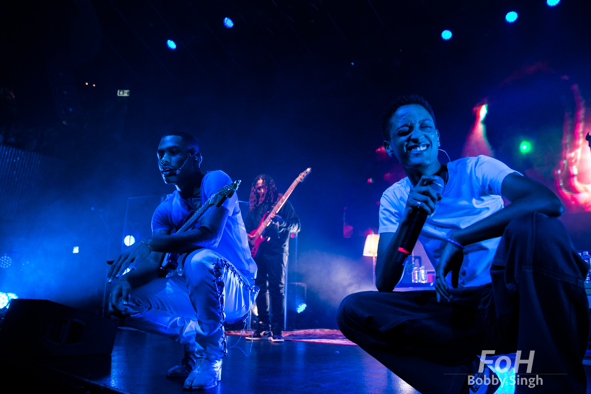 Toronto, CANADA. 09th, December 2018. The Internet guitarist Steve Lacy and lead singer SYd The Kyd perform at Rebel Nightclub