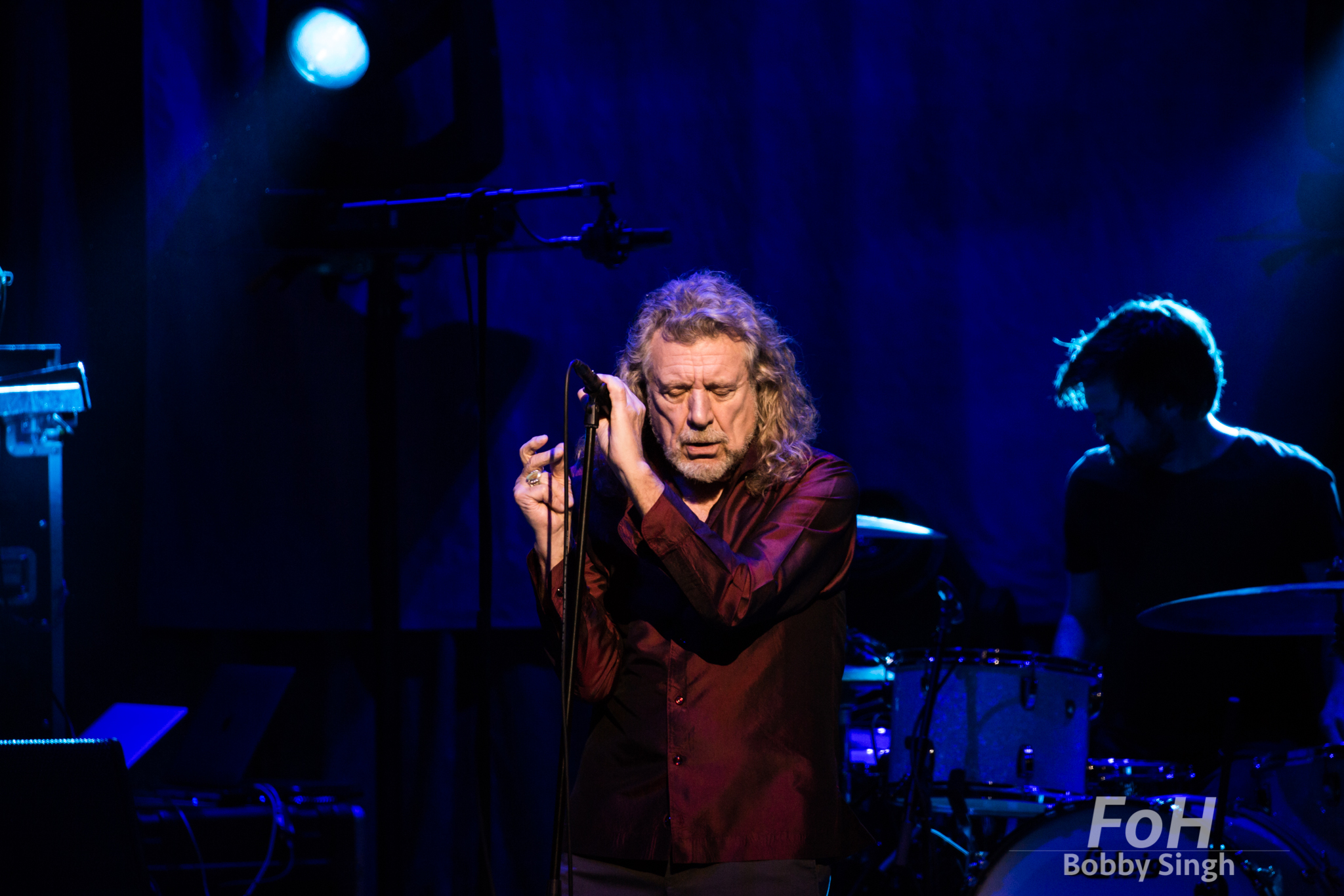 Robert Plant performing at Massey Hall in Toronto. Credit Bobby Singh/Alamy