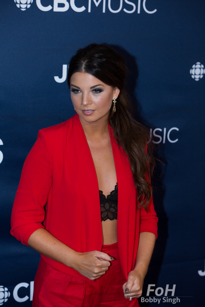 Jess Moskaluke on the 2019 JUNO Awards red carpet at Budweiser Gardens, in London, Ontario, CANADA