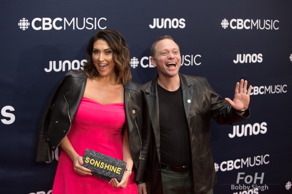 Sonshine and Broccoli on the 2019 JUNO Awards red carpet at Budweiser Gardens, in London, Ontario, CANADA