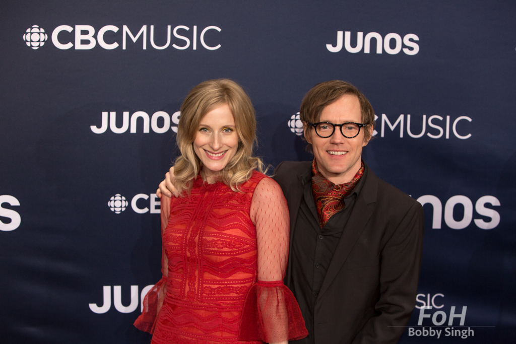 Whitehorse on the 2019 JUNO Awards red carpet at Budweiser Gardens, in London, Ontario, CANADA