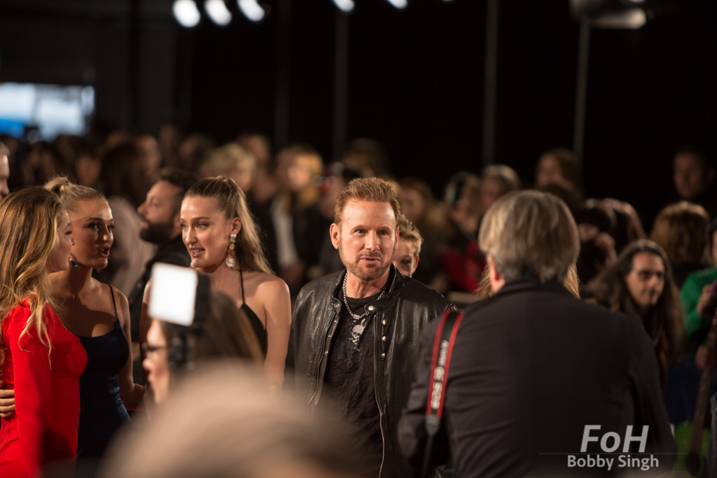 Corey Hart on the 2019 JUNO Awards red carpet at Budweiser Gardens, in London, Ontario, CANADA