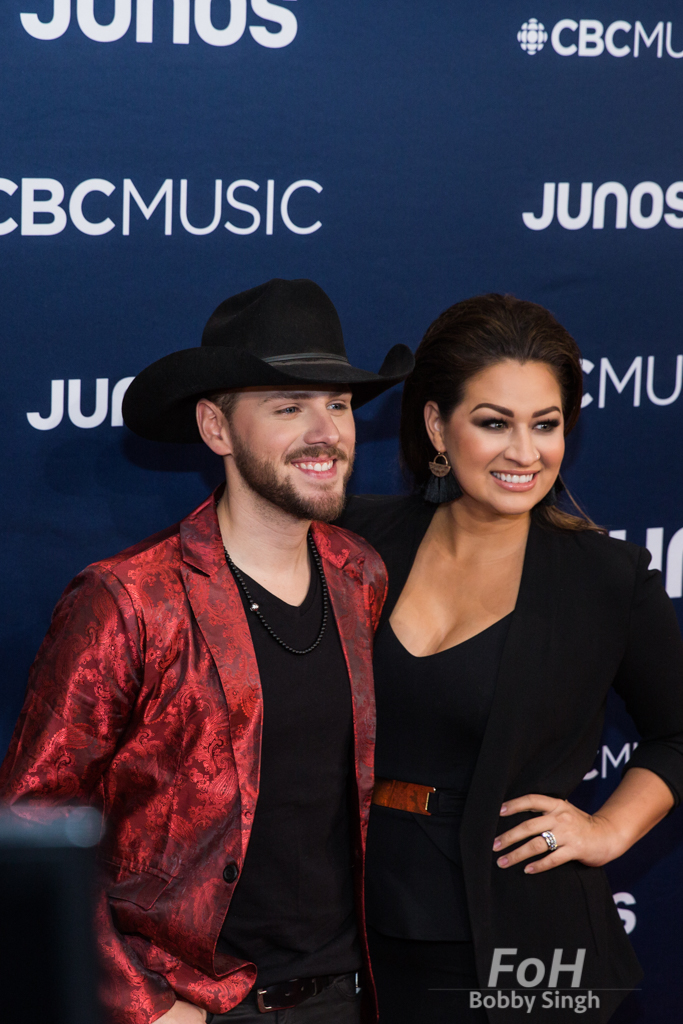 Brett Kissel on the 2019 JUNO Awards red carpet at Budweiser Gardens, in London, Ontario, CANADA