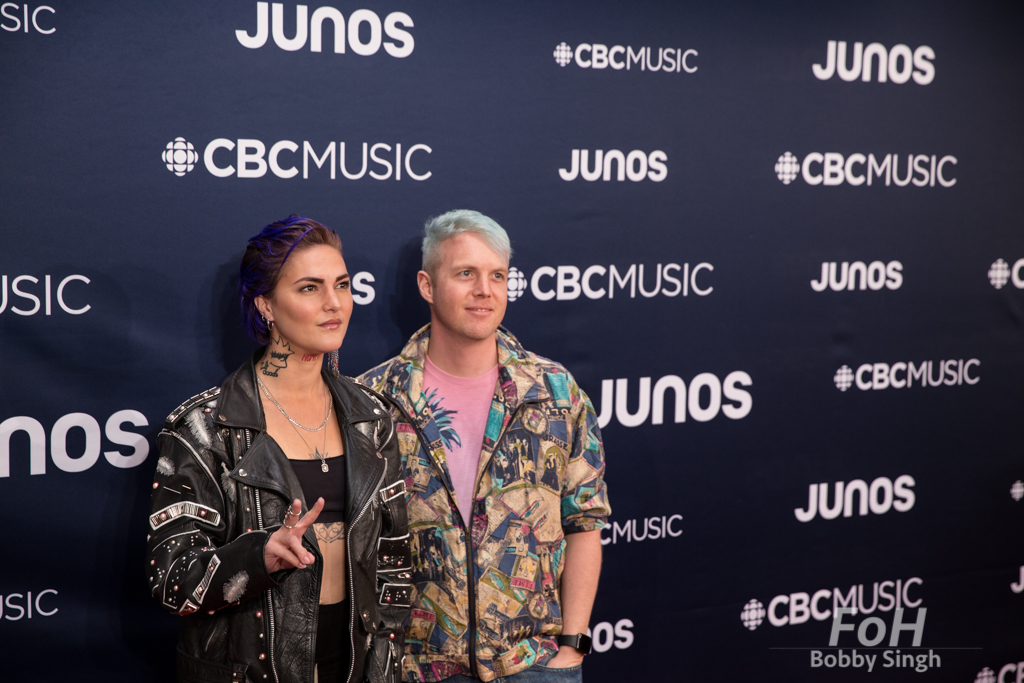 Iamhill on the 2019 JUNO Awards red carpet at Budweiser Gardens, in London, Ontario, CANADA
