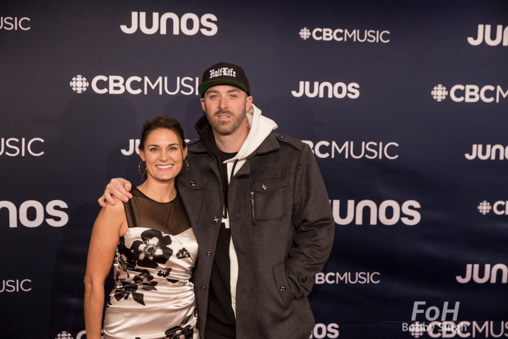 Rapper Classified on the 2019 JUNO Awards red carpet at Budweiser Gardens, in London, Ontario, CANADA