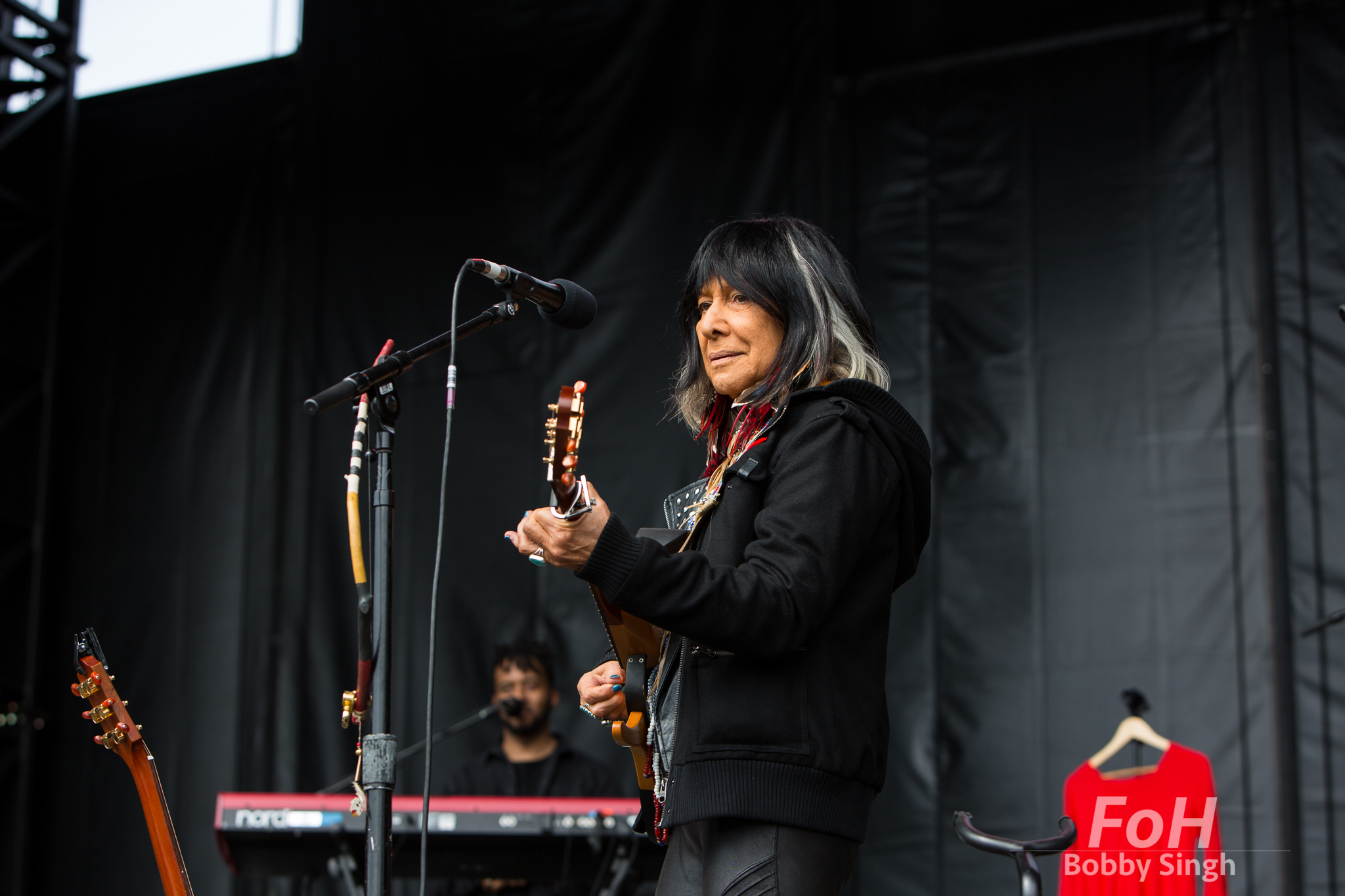 Music and political icon Buffy Sainte-Marie performs at the CBC Music Festival in Toronto, CANADA.