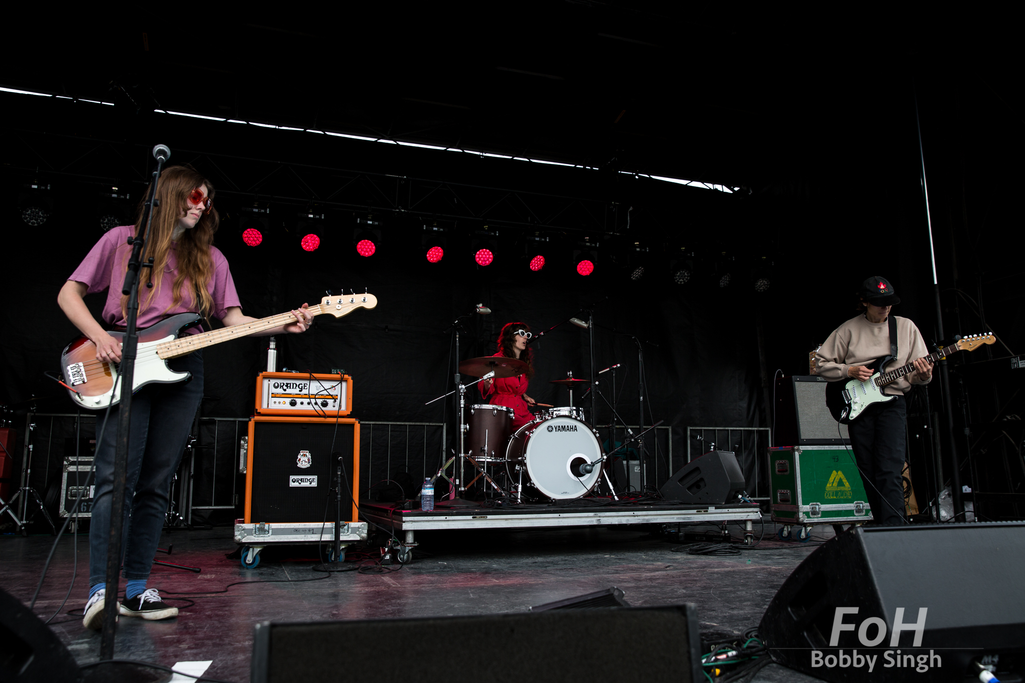The Courtneys (Sydney Koke, Jen Twynn Payne and Courtney Loove) perform at the CBC Music Fest in Toronto, CANADA.