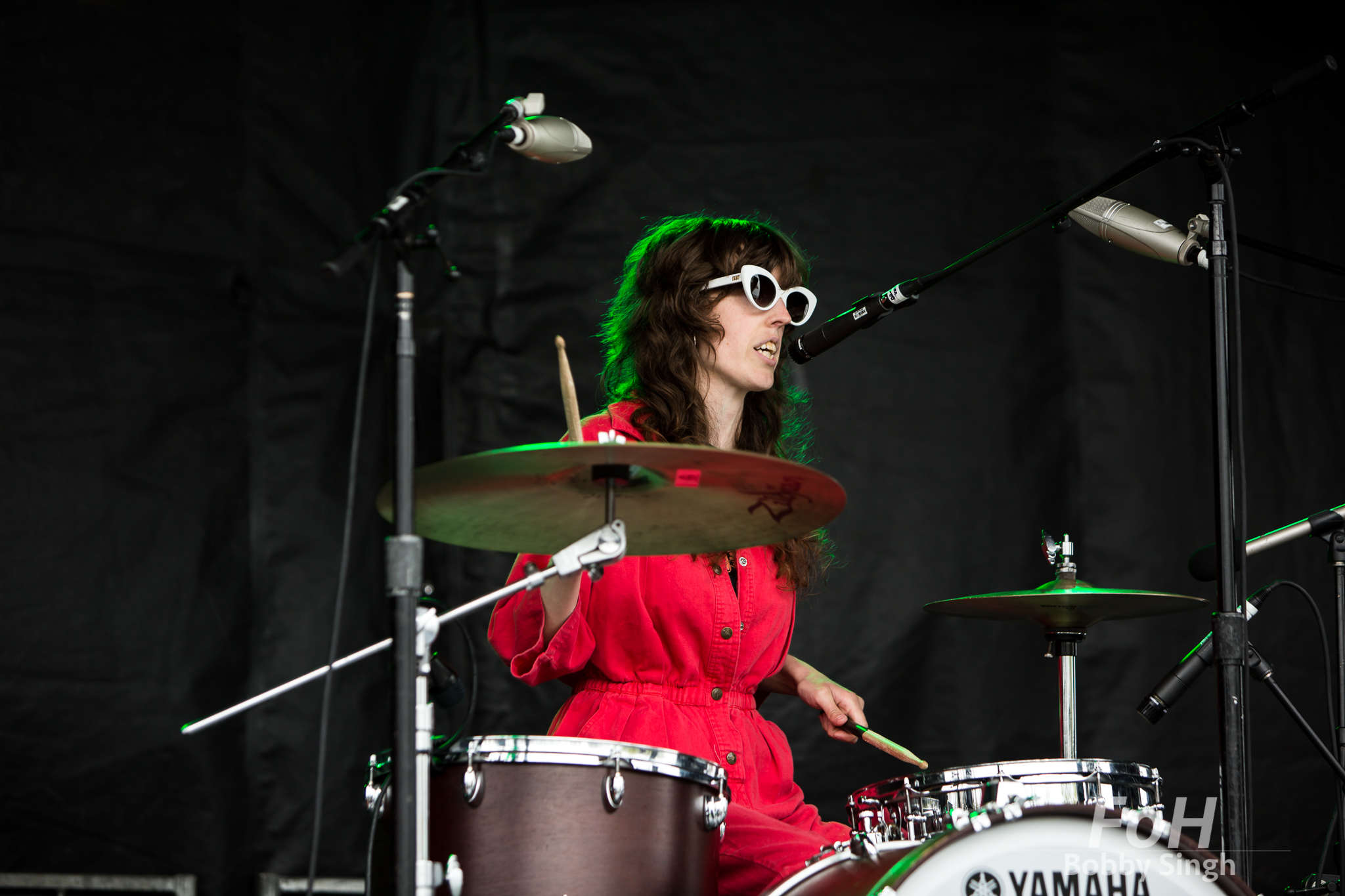Drummer Jen Twynn Payne of The Courtneys performs at the CBC Music Fest in Toronto, CANADA.