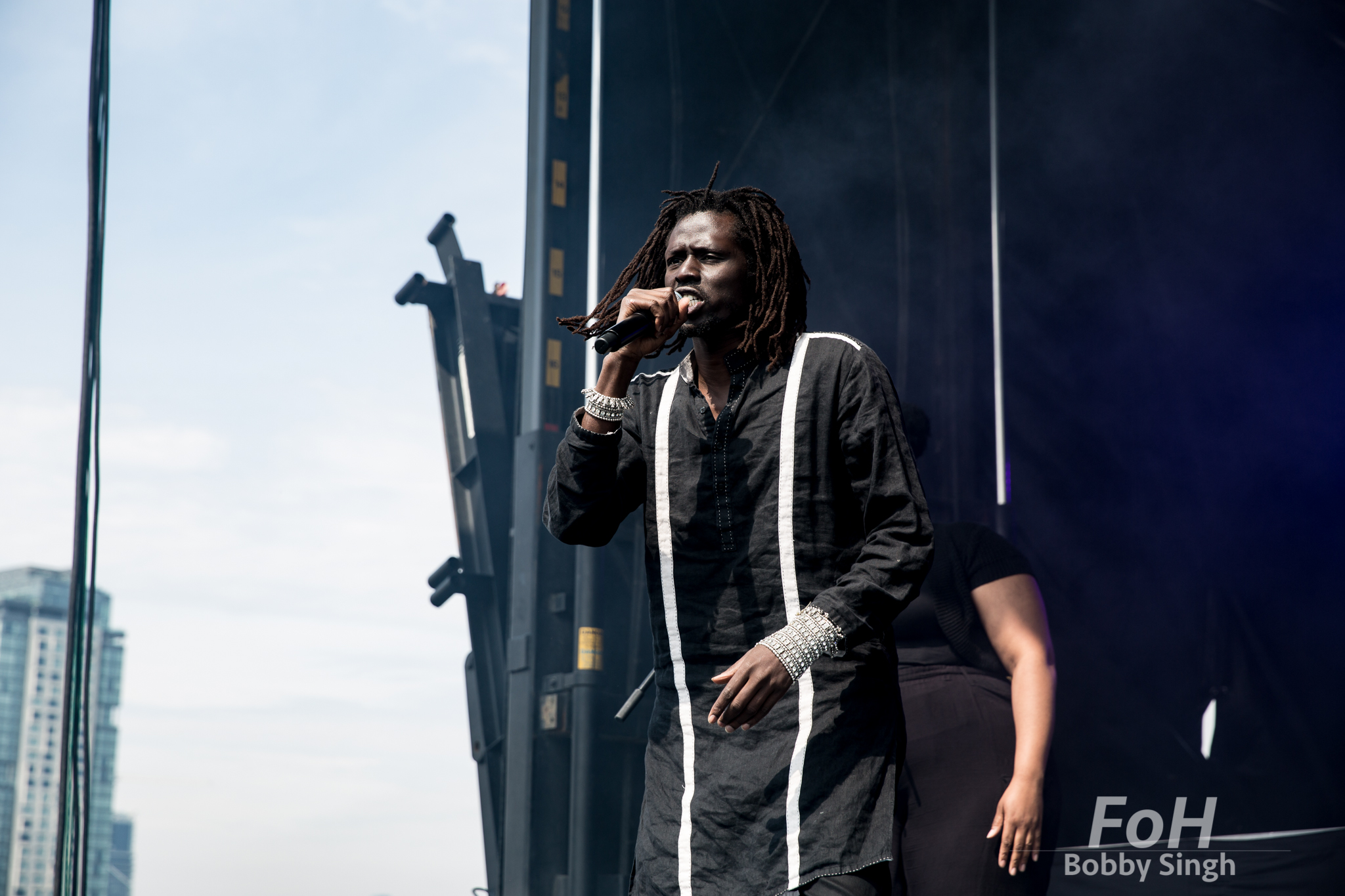 Sudanese-Canadian singer Emmanuel Jal performs at the CBC Music Fest in Toronto, CANADA