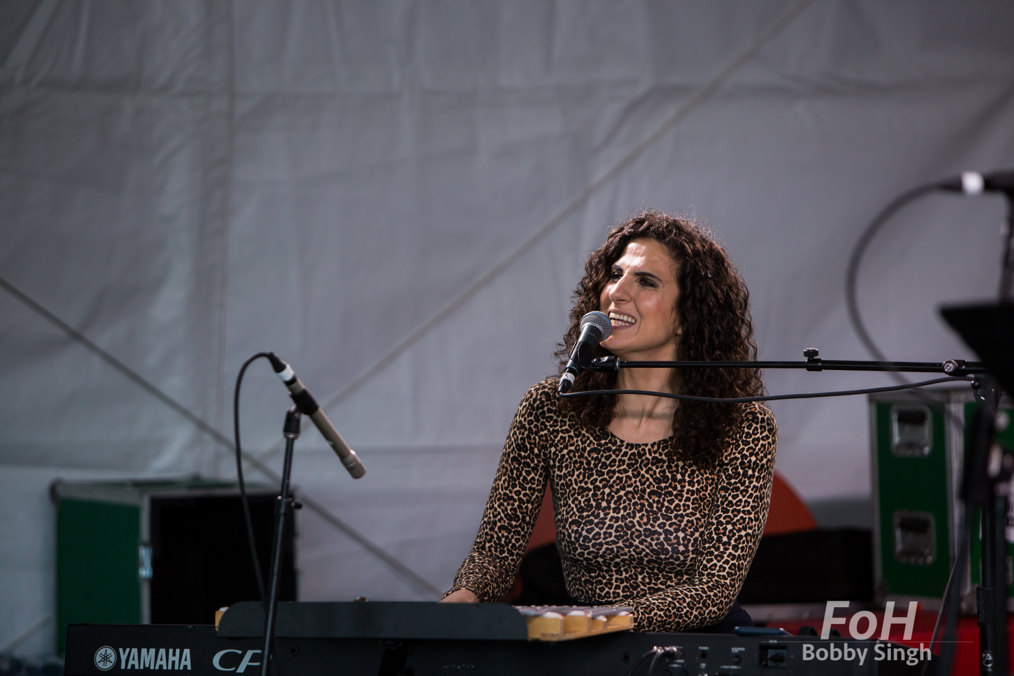 Jazz singer and pianist performs at the CBC Music Fest in Toronto, CANADA