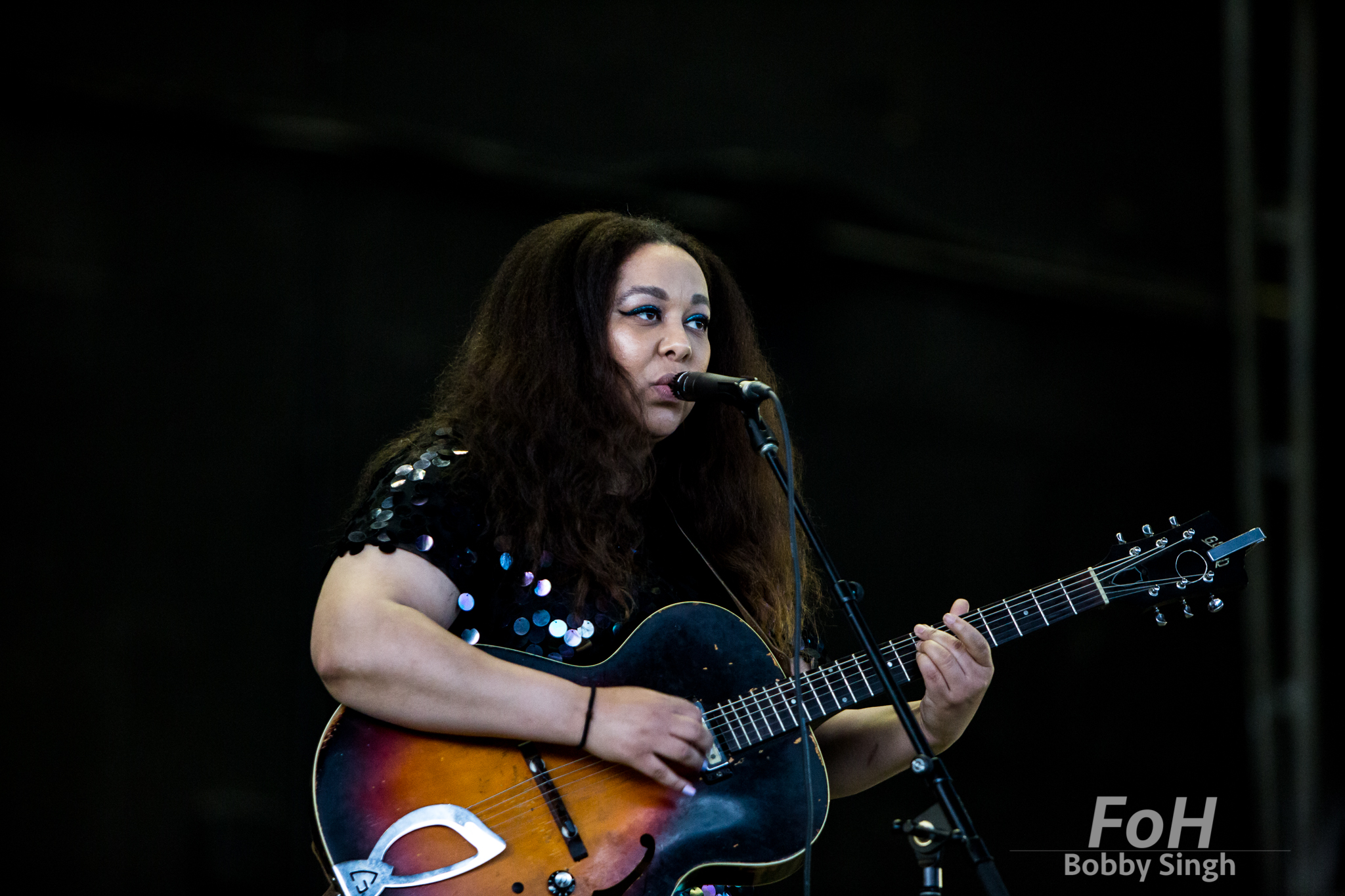 Soul singer Nuela Charles performs at the CBC Music Fest in Toronto, CANADA