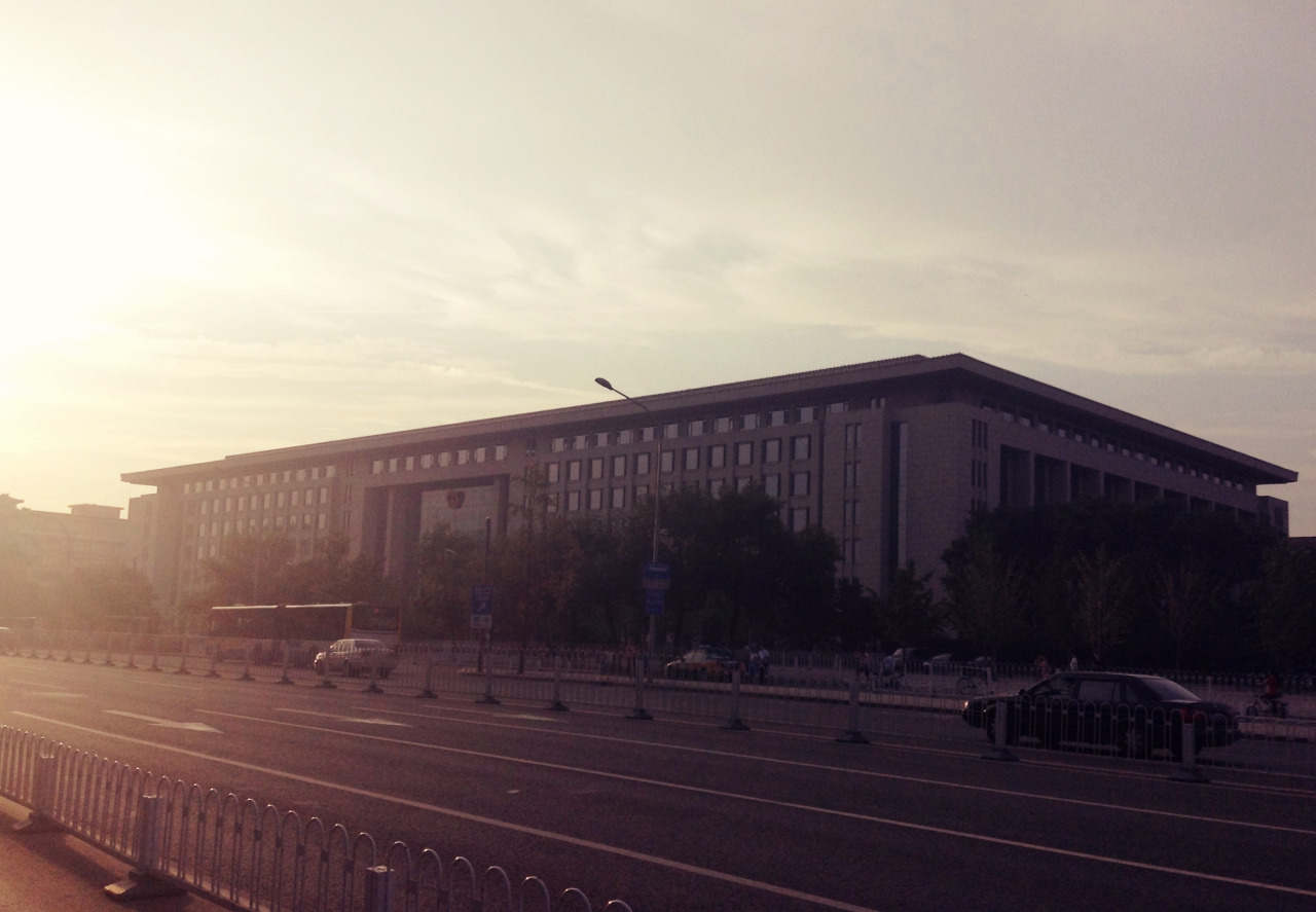 Qianmen. Pretty sure it's a government building because it's HUGE and wider than it is tall. Seems to be a recurring theme for Chinese government architecture.