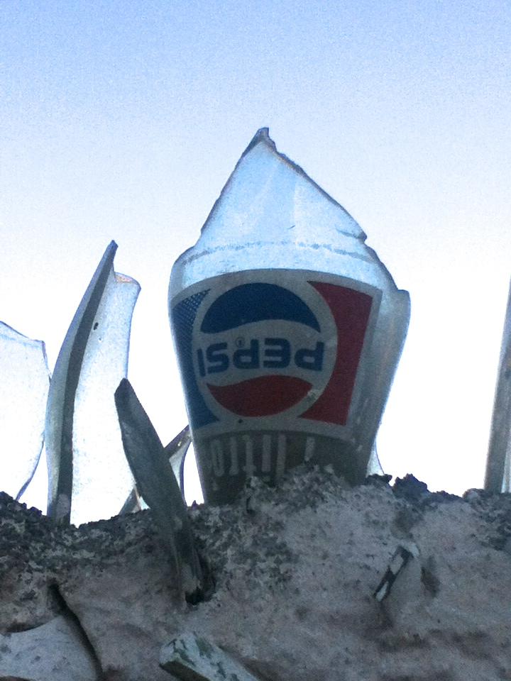 Pepsi: Not only a refreshing beverage, but also useful in preventing thieves from hopping your wall.