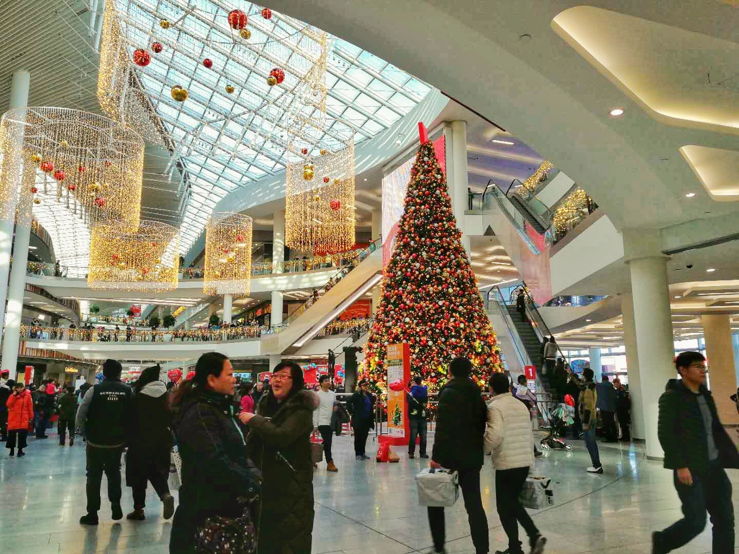 Christmas tree in a Chinese shopping mall