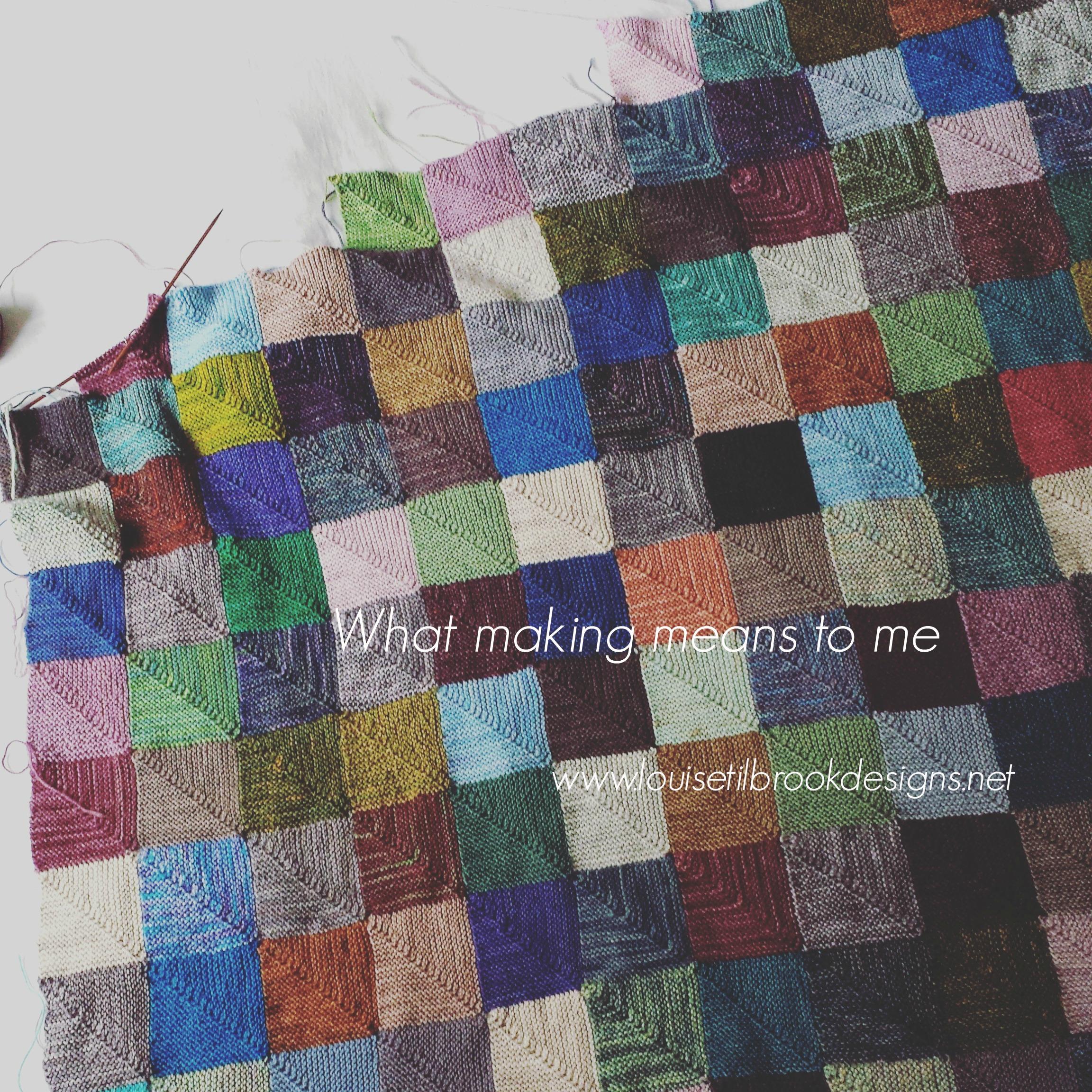 My long-standing comfort WIP: meet SockYarnBlankie