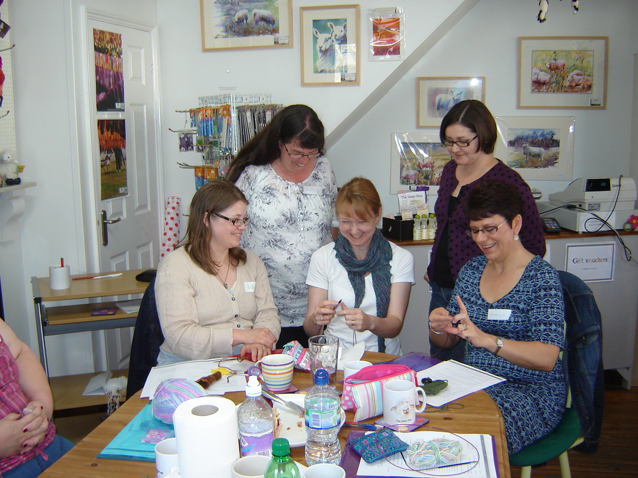 Teaching: always a pleasure to enable a new generation of knitters