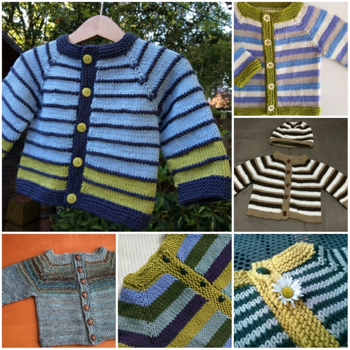 The Fuss Free Baby Cardigan by Louise Tilbrook Designs
