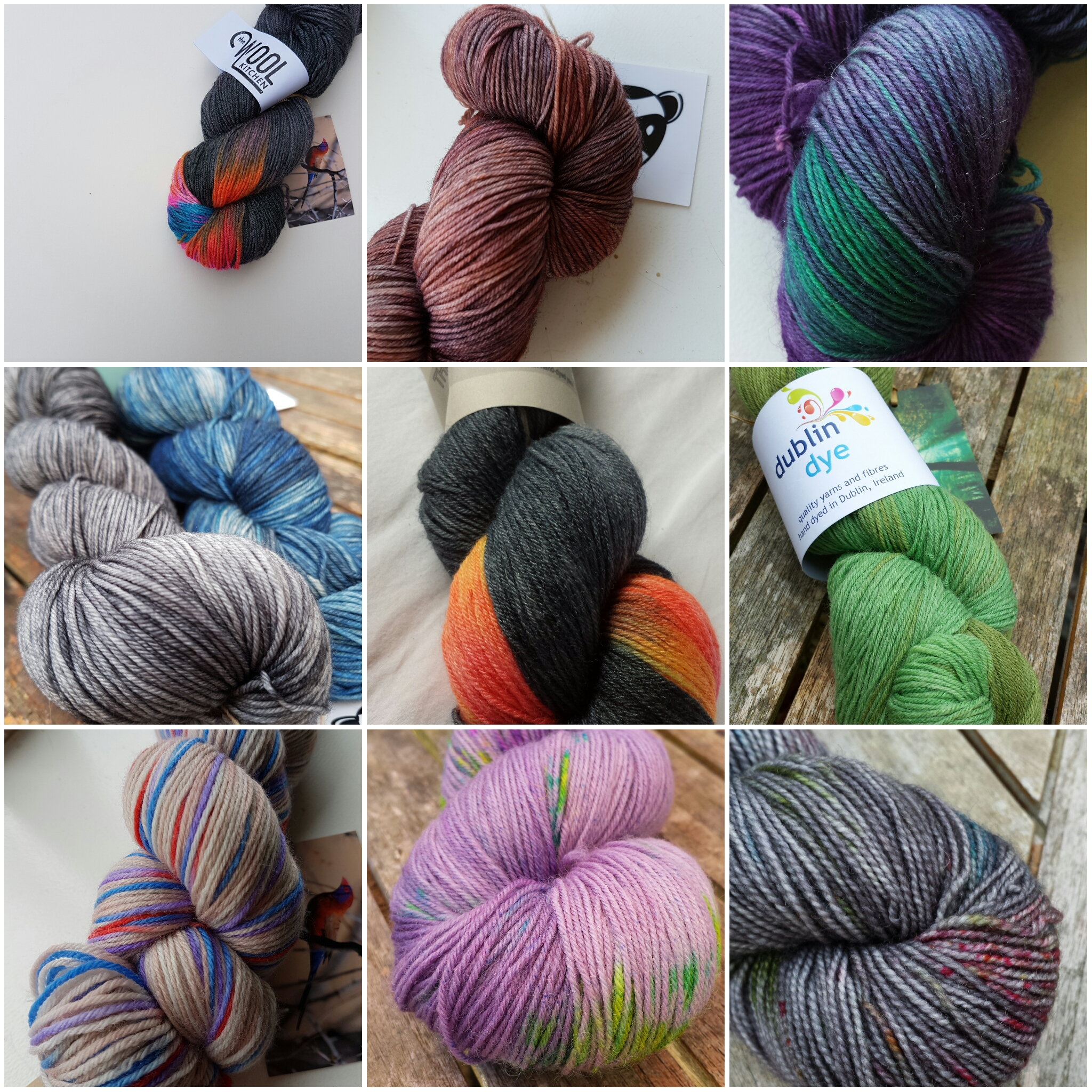 Some of my most prized sock yarn possessions - I would grab these first if the house were on fire