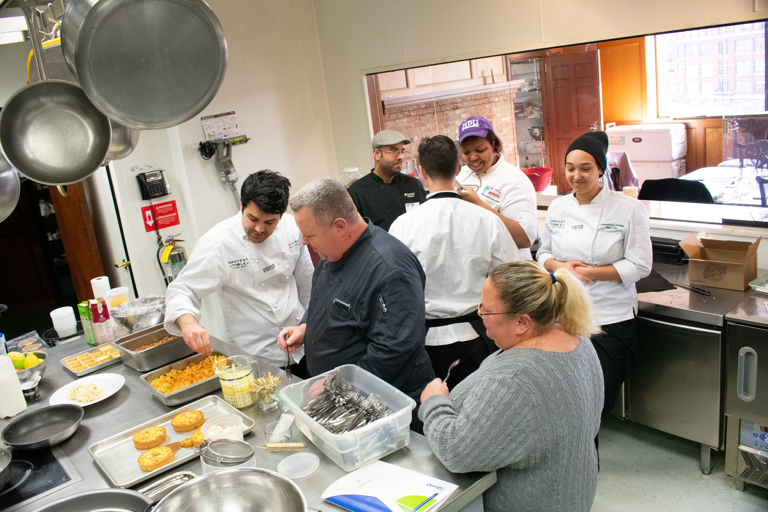 Pastry Chefs from Elon University, Georgetown University, Wake Forest University, High Point University and University of Rochester attended this event along with Chef Matthew.