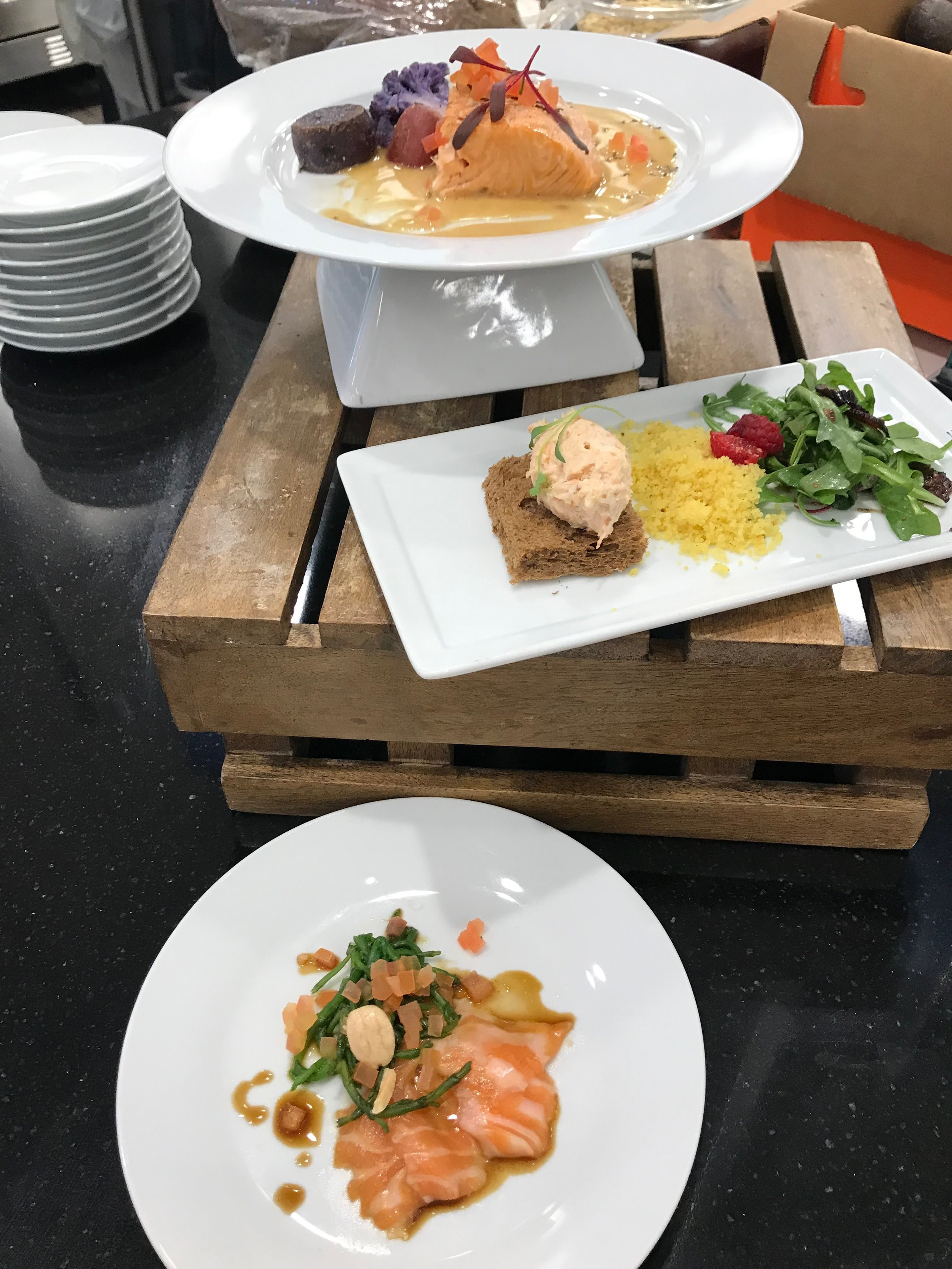 Dishes offered by Chef Bjorn