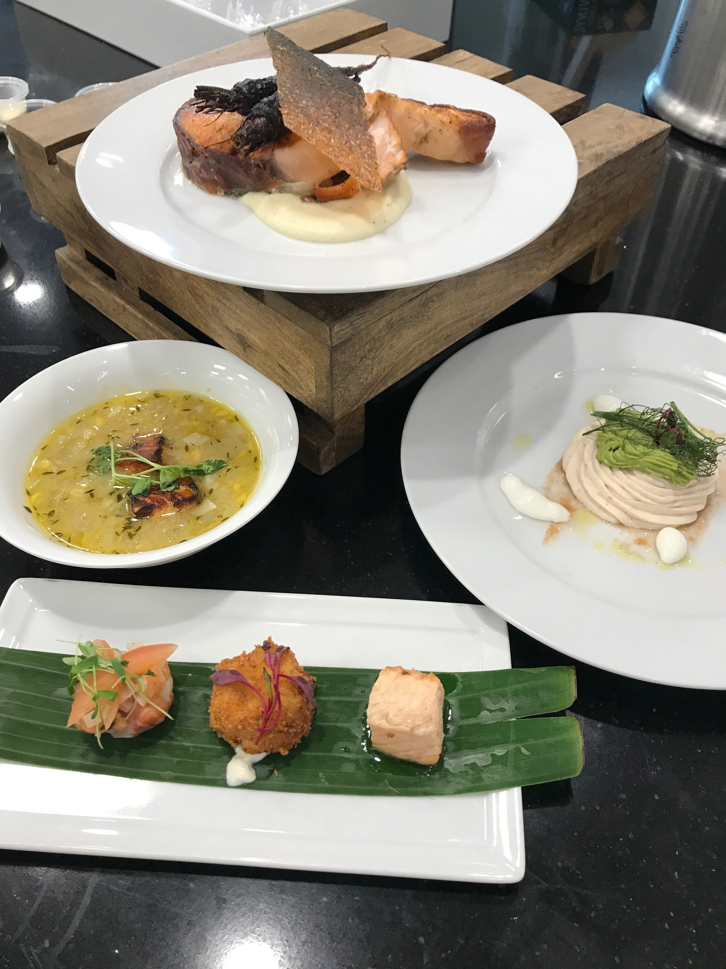 Dishes offered by Chef Richard