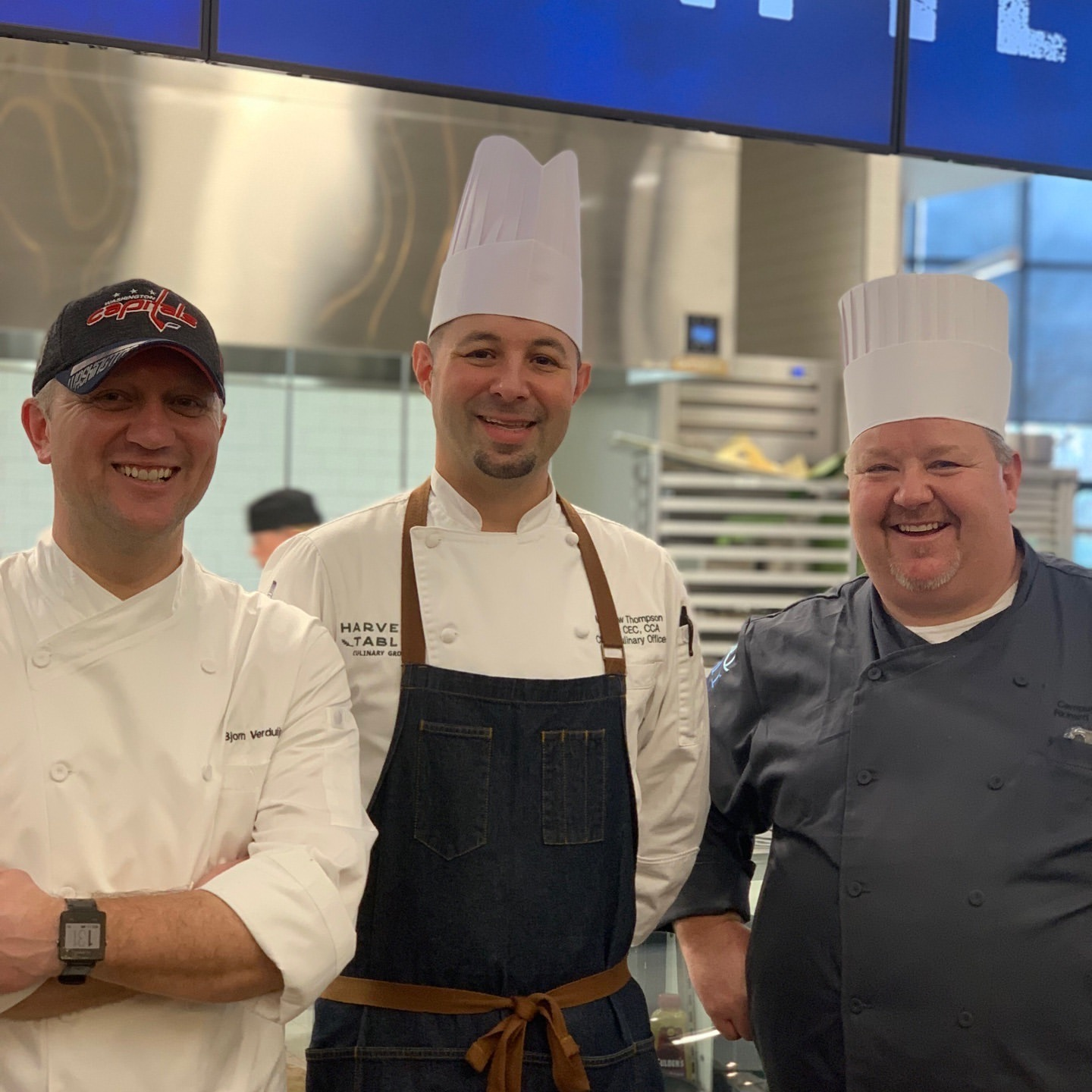 Chefs Bjorn Verduijn, Matthew Thompson, & Richard Hetzler